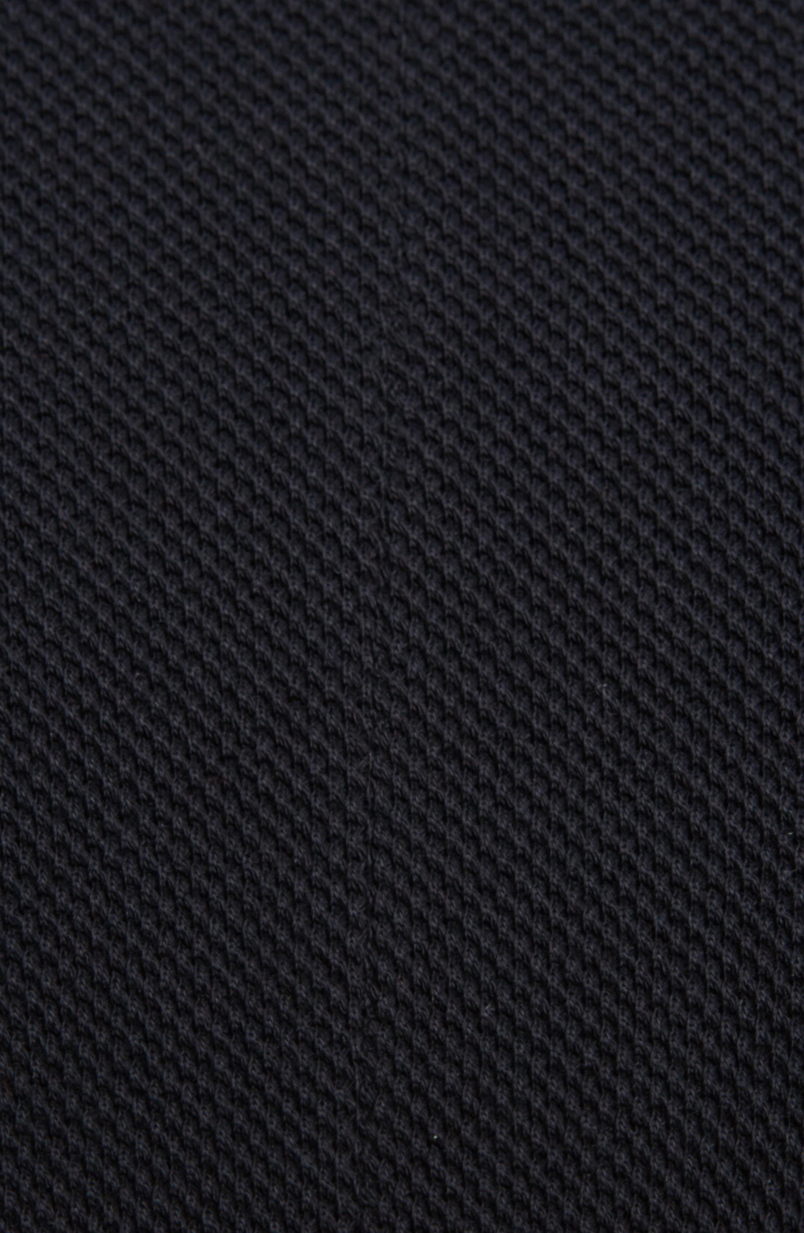 Cuban Fit Stripe Sleeve Polo,                             Alternate thumbnail 5, color,                             Black