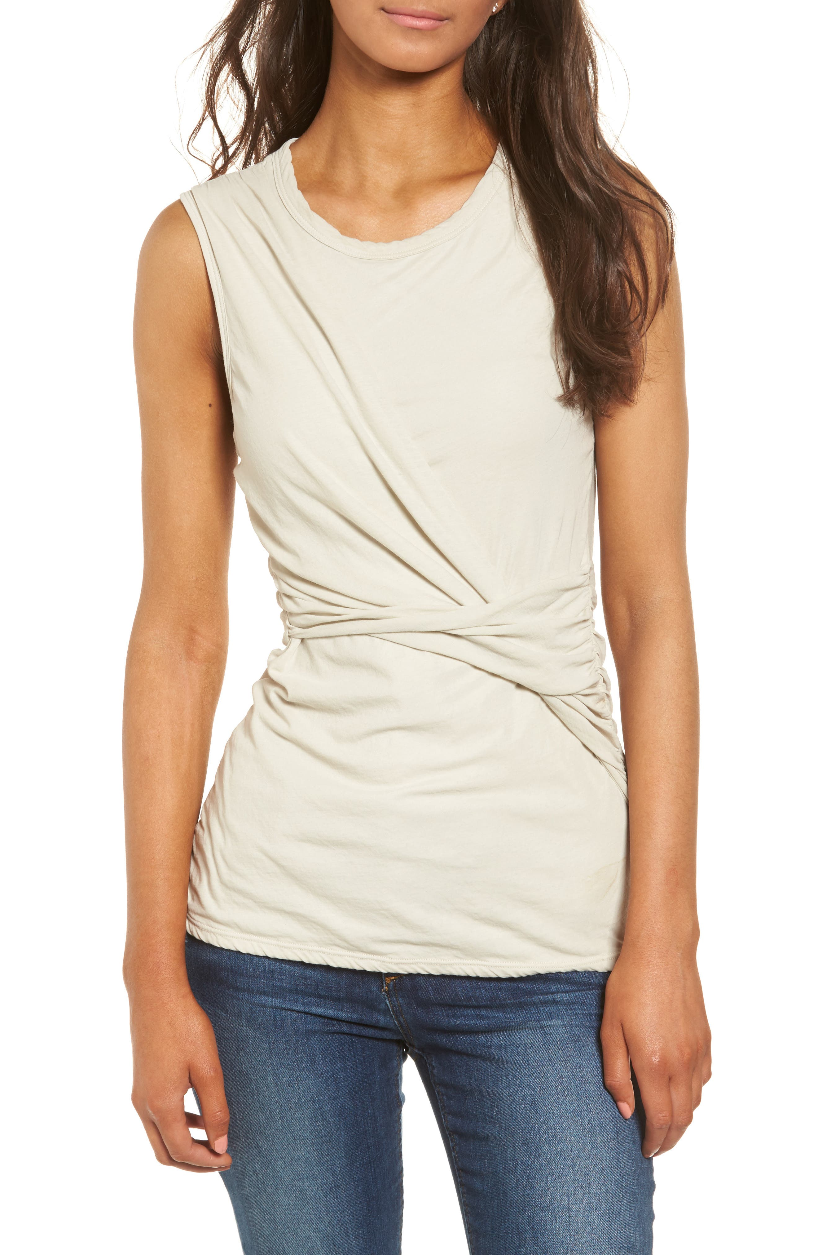 Alternate Image 1 Selected - James Perse Twisted Jersey Tank