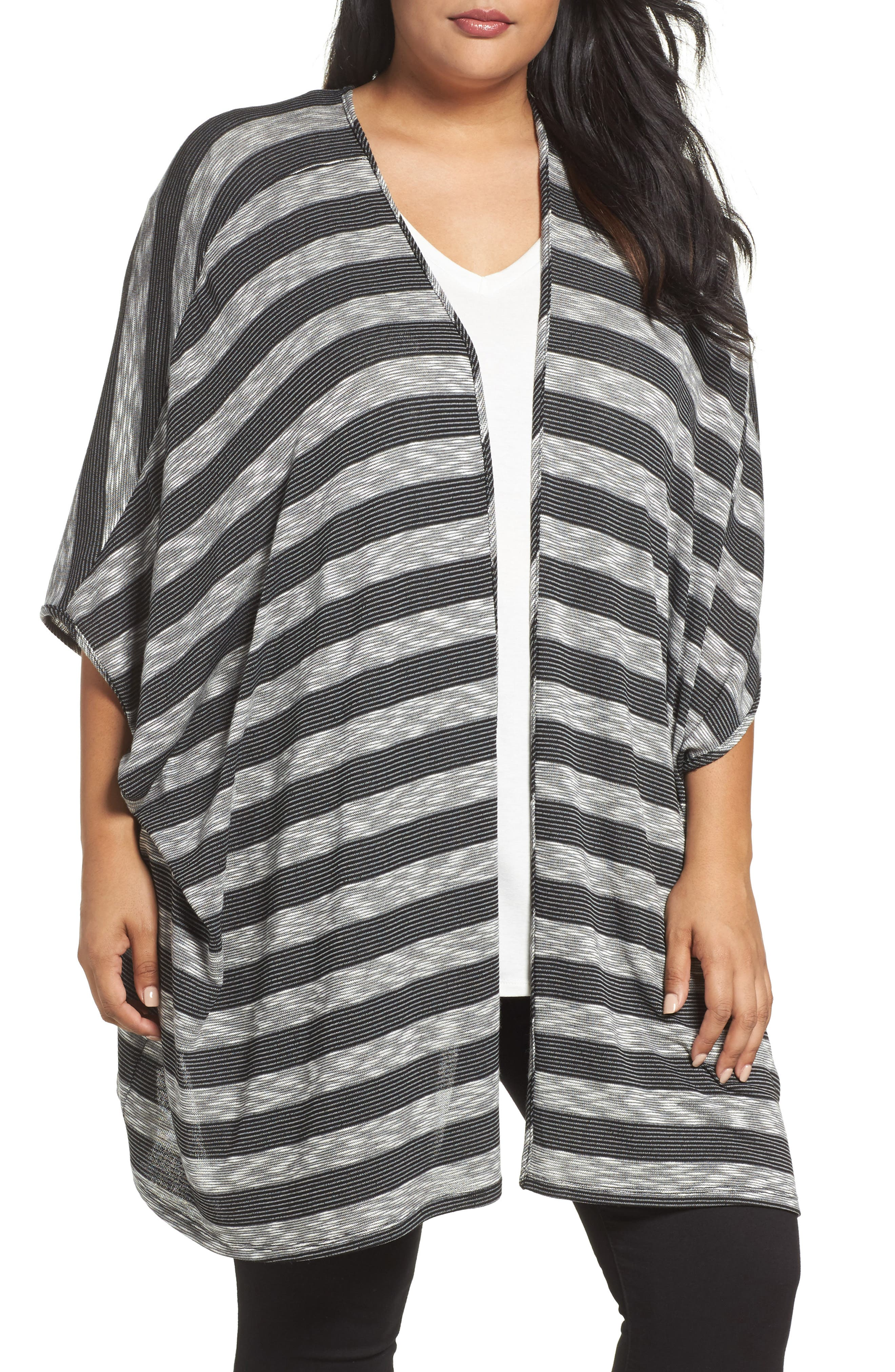 Alternate Image 1 Selected - Tart Alania Stripe Cardigan (Plus Size)