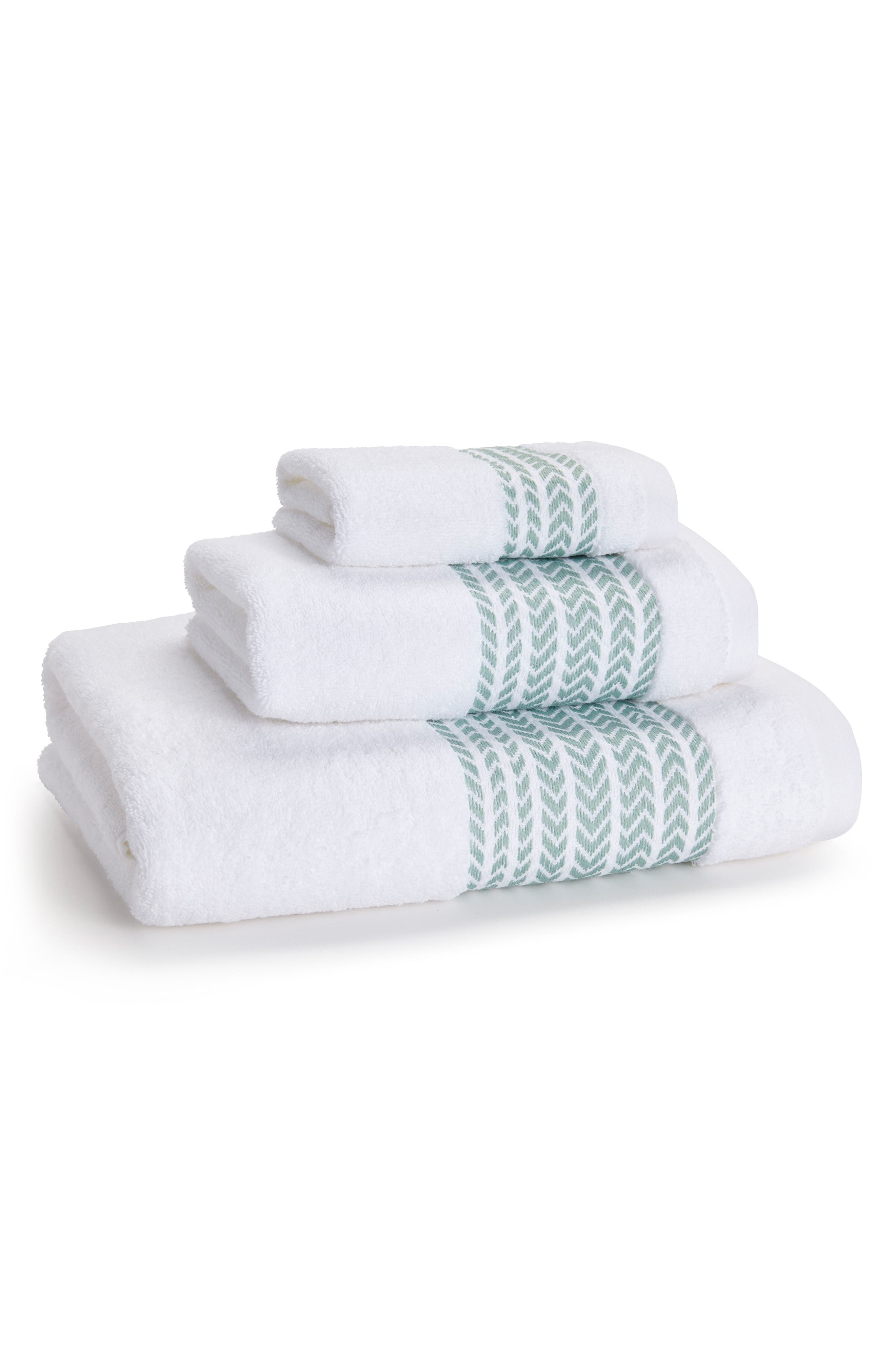 Baja Hand Towel,                             Main thumbnail 1, color,                             Verde