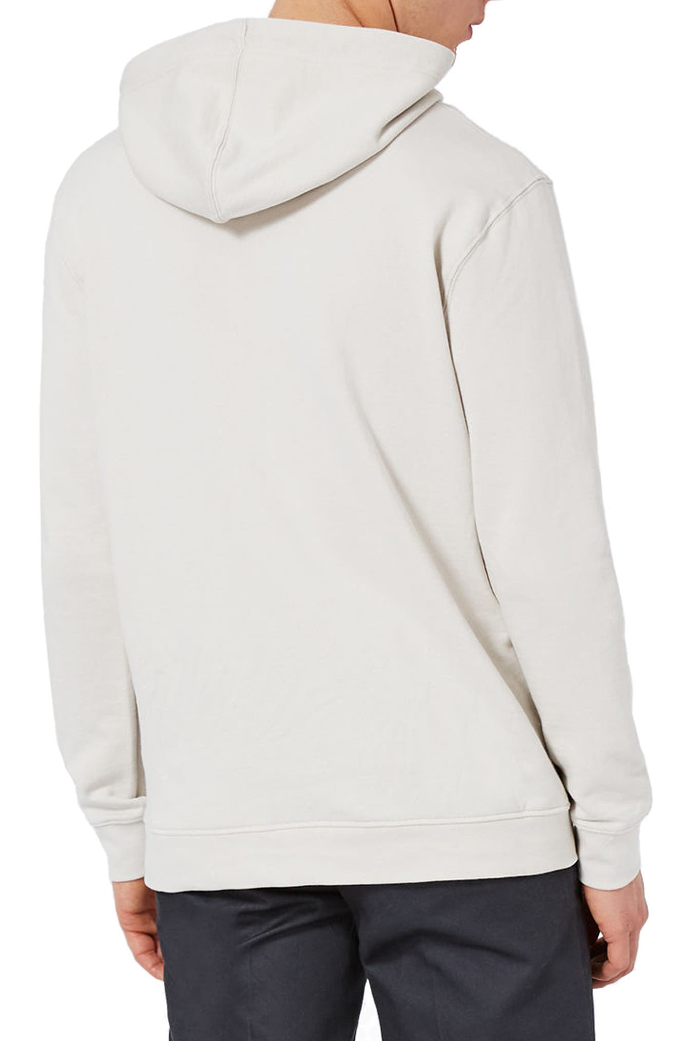 Classic Fit Hoodie,                             Alternate thumbnail 2, color,                             Stone