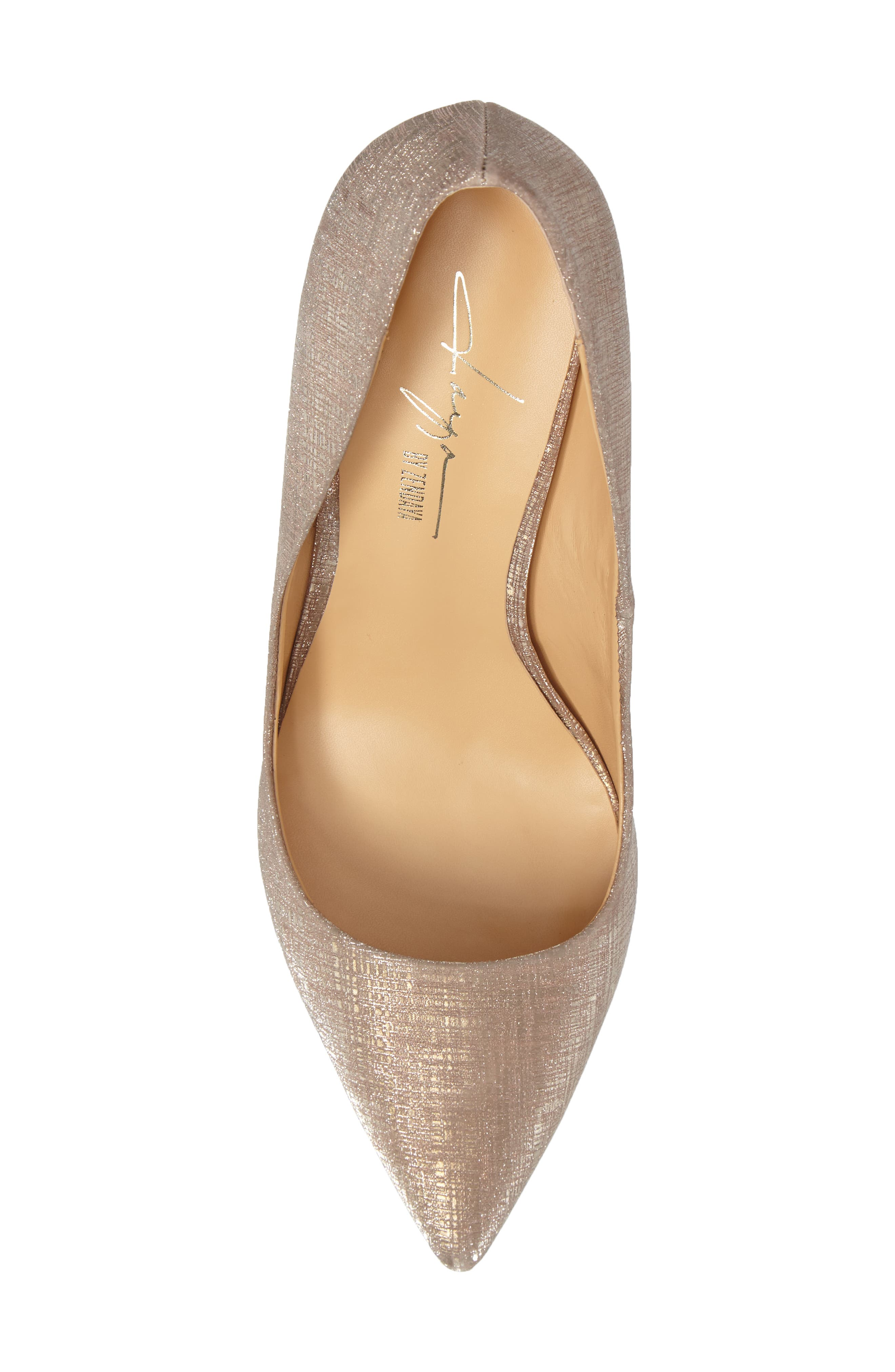 by Zendaya Nycole Metallic Pump,                             Alternate thumbnail 5, color,                             Gold