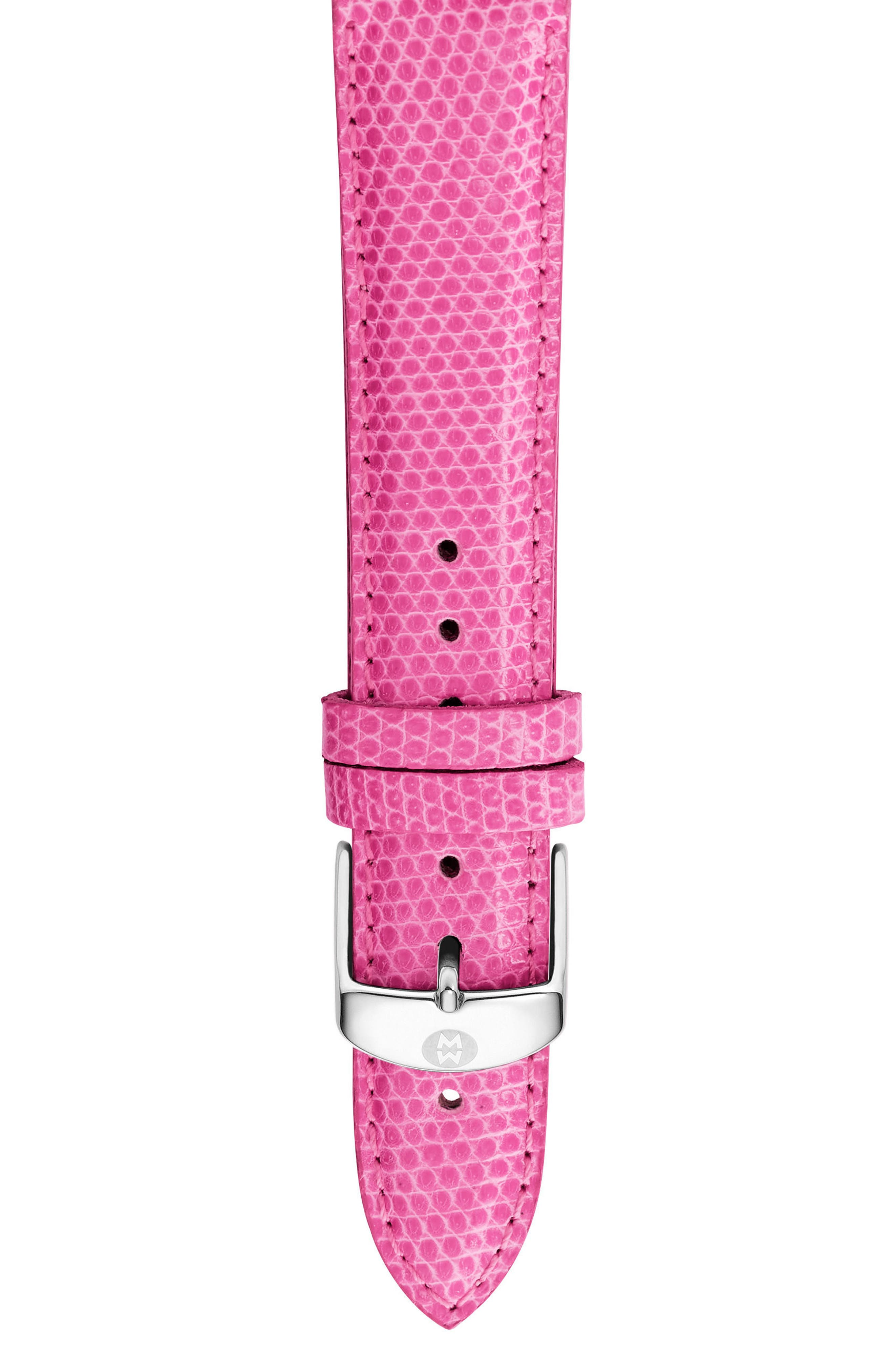 Alternate Image 1 Selected - MICHELE 16mm Lizardskin Watch Strap