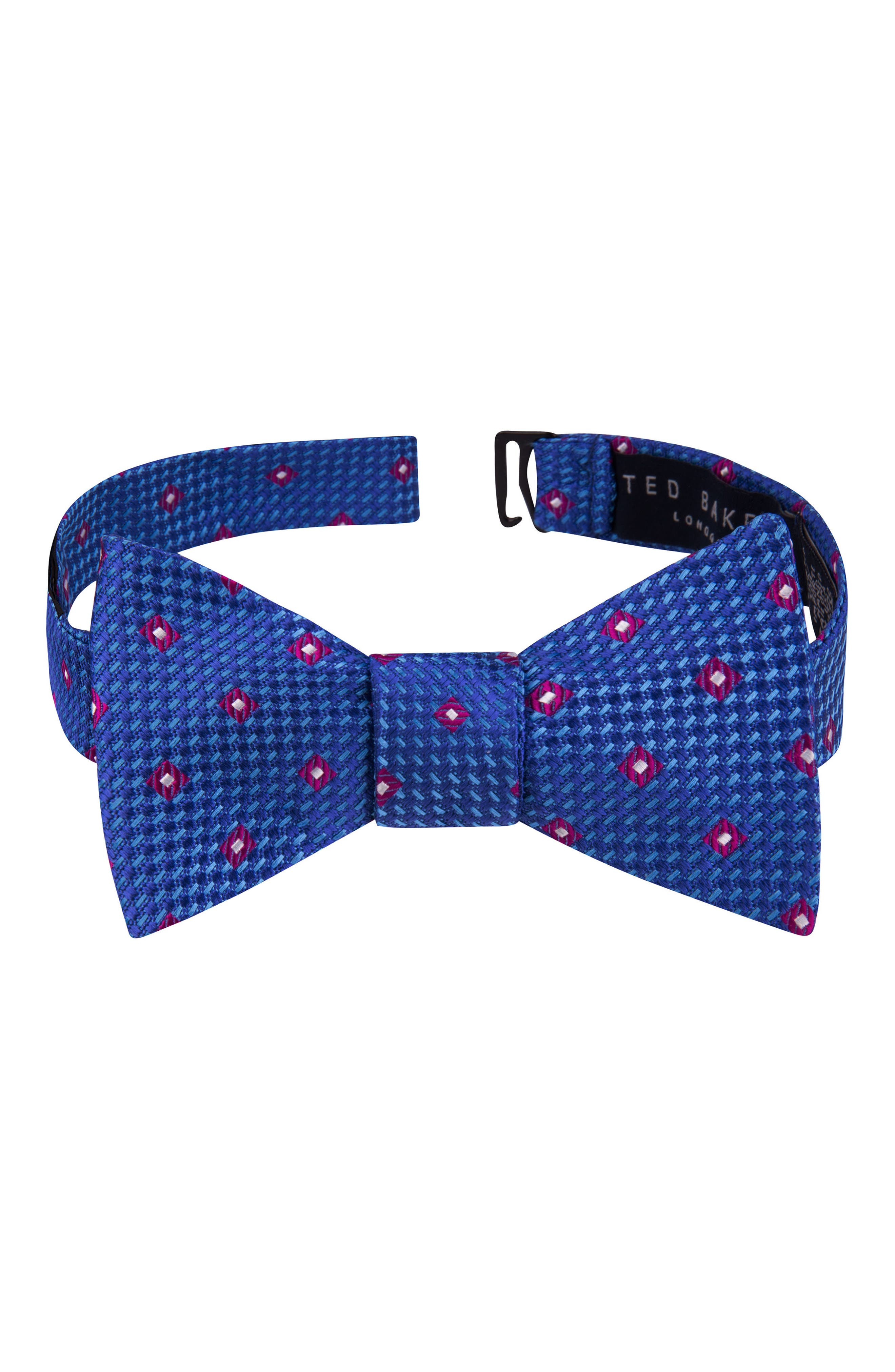 Awesome Geometric Silk Bow Tie,                         Main,                         color, Navy