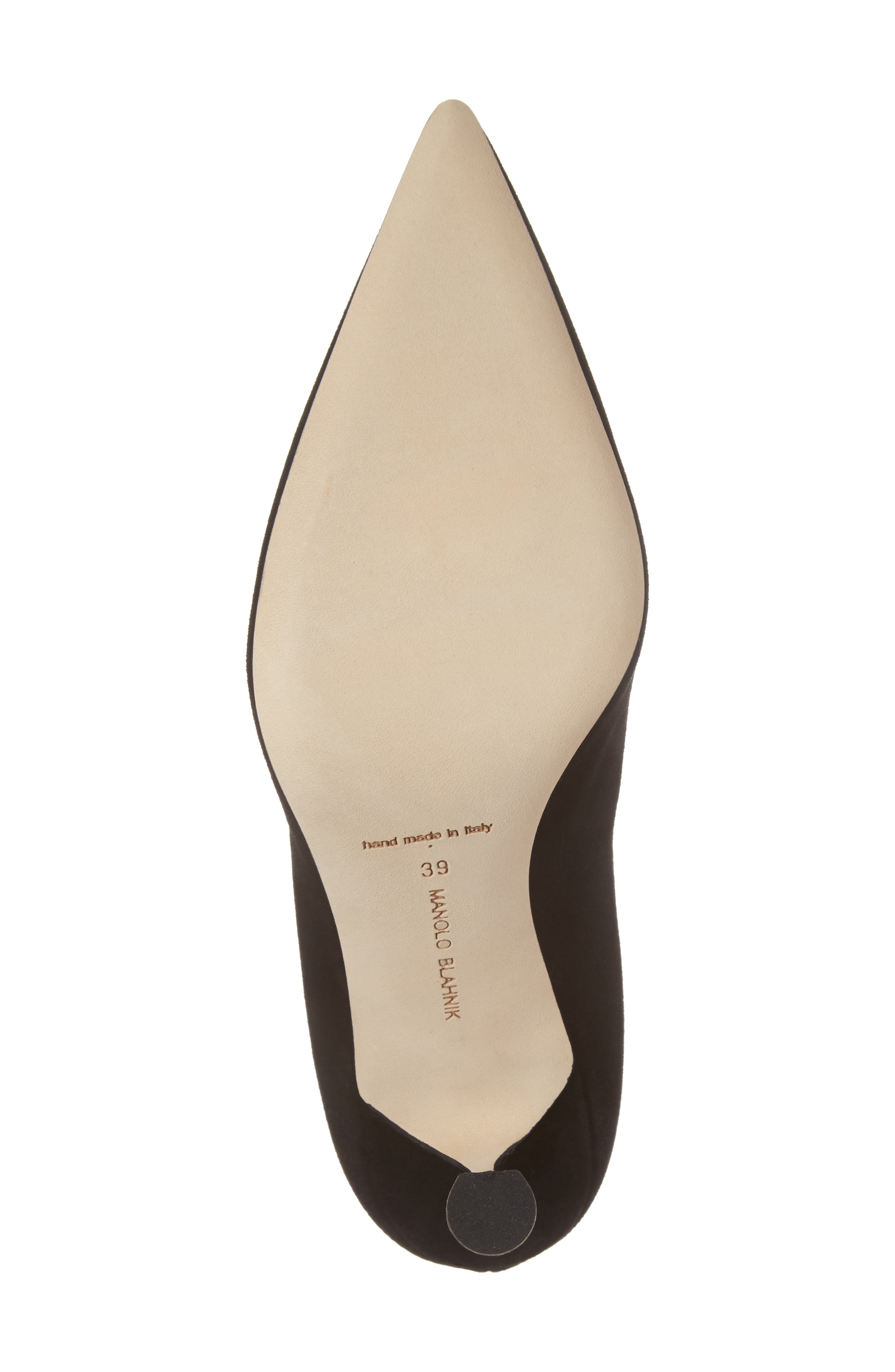 Urgenze Pointy Toe Pump,                             Alternate thumbnail 6, color,                             Black Suede