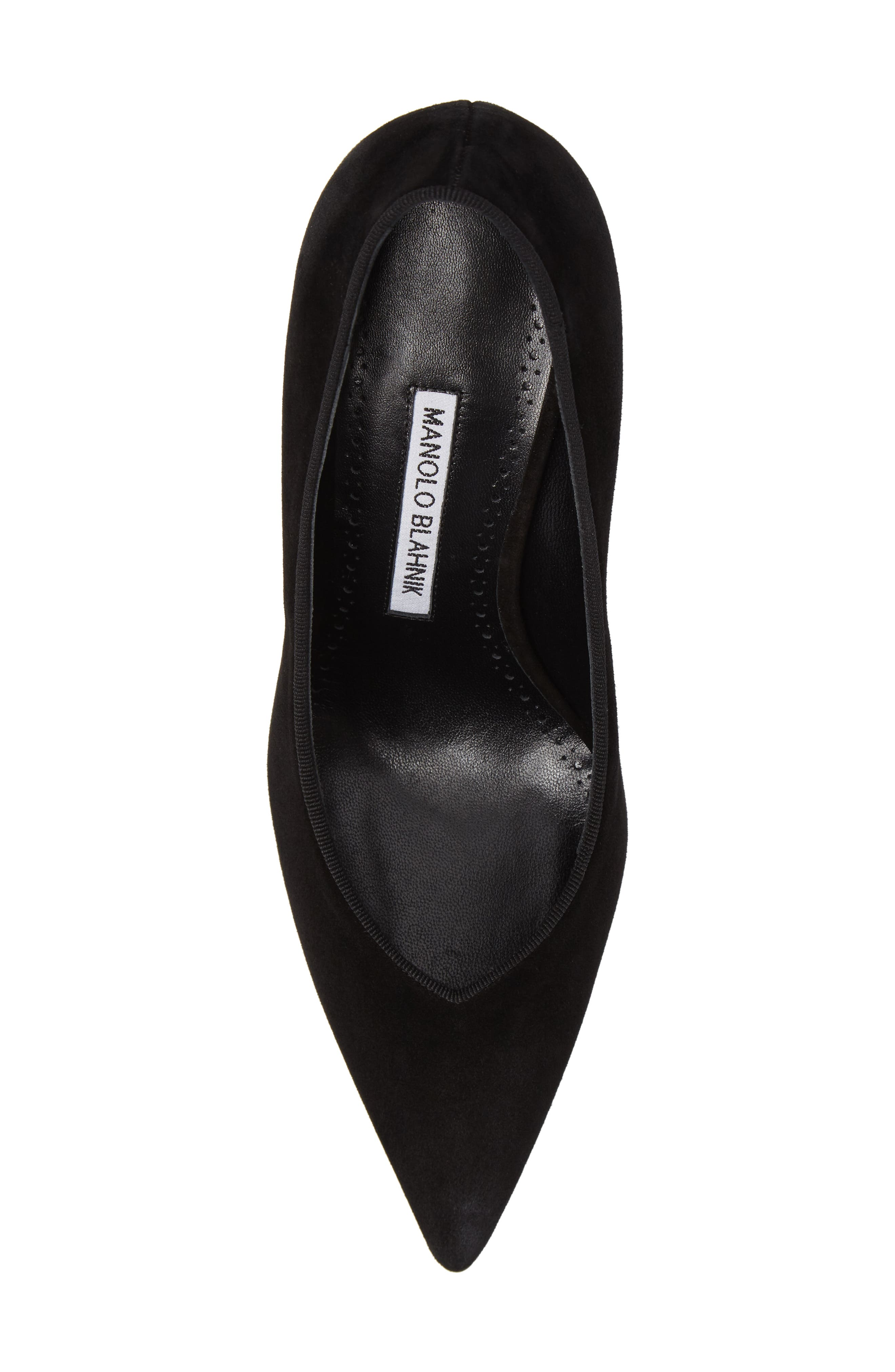 Urgenze Pointy Toe Pump,                             Alternate thumbnail 5, color,                             Black Suede