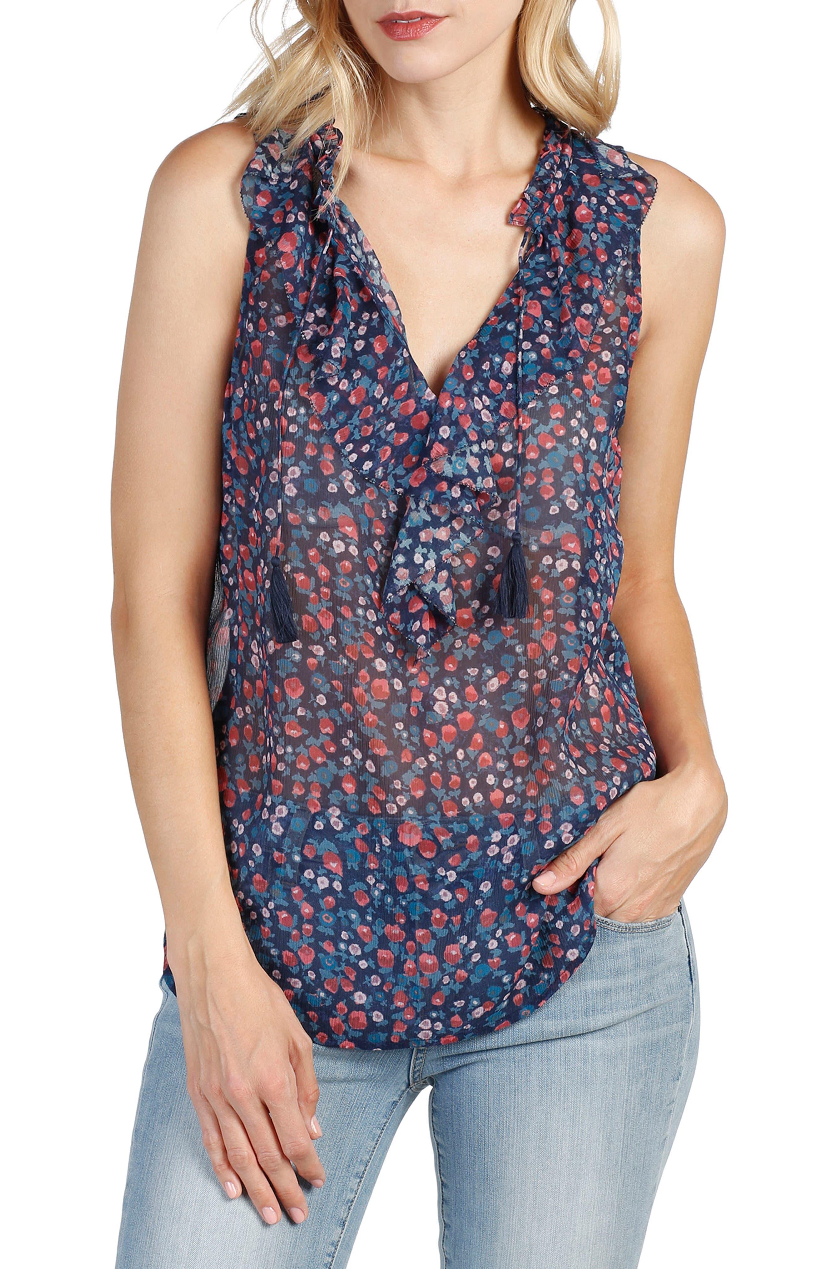 Main Image - PAIGE Alma Floral Silk Top
