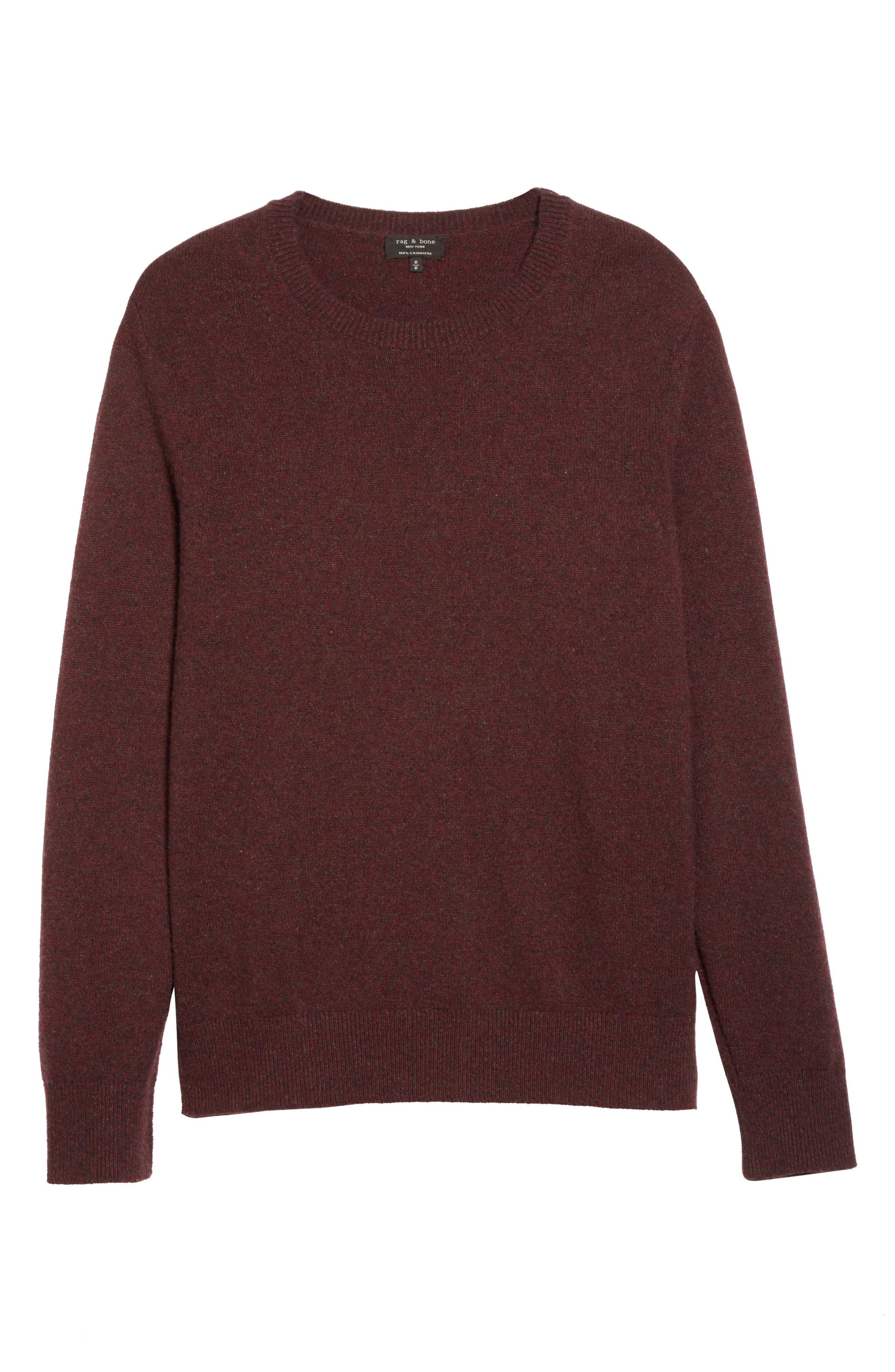 Holdon Cashmere Sweater,                             Alternate thumbnail 6, color,                             Burgundy