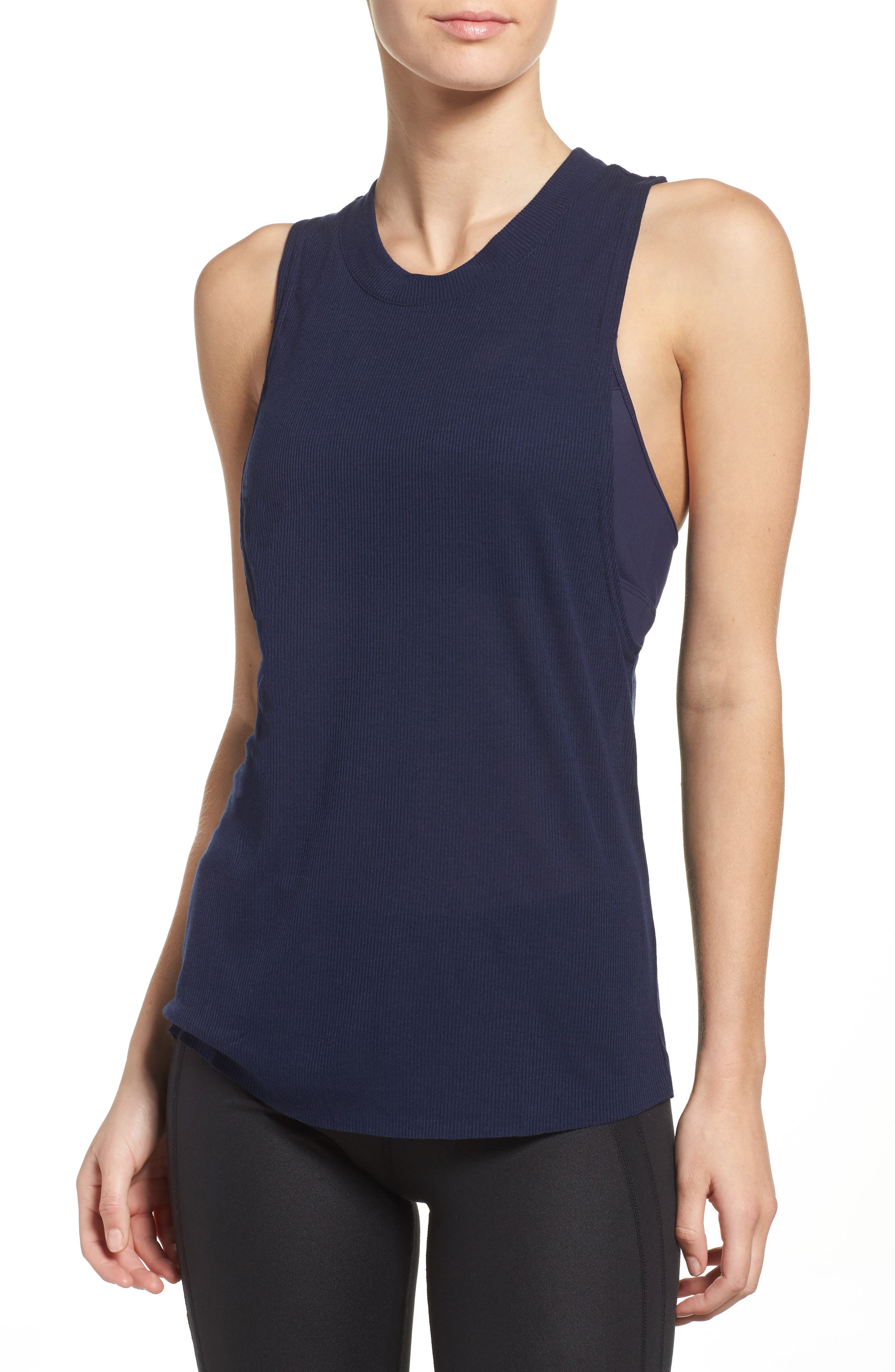 Main Image - Alo Heat Wave Ribbed Muscle Tee