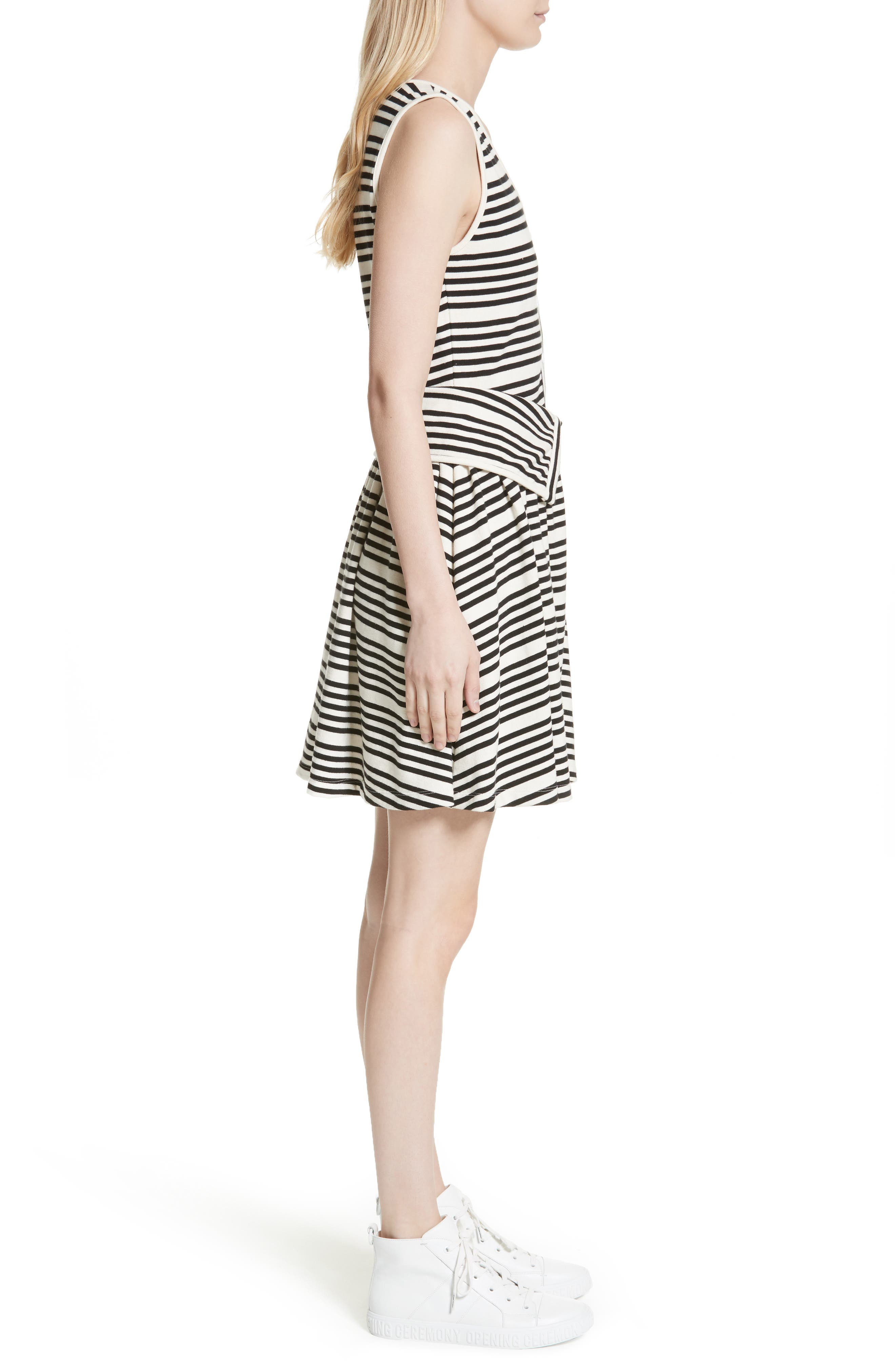 Alternate Image 3  - Opening Ceremony Stripe Button Front Dress
