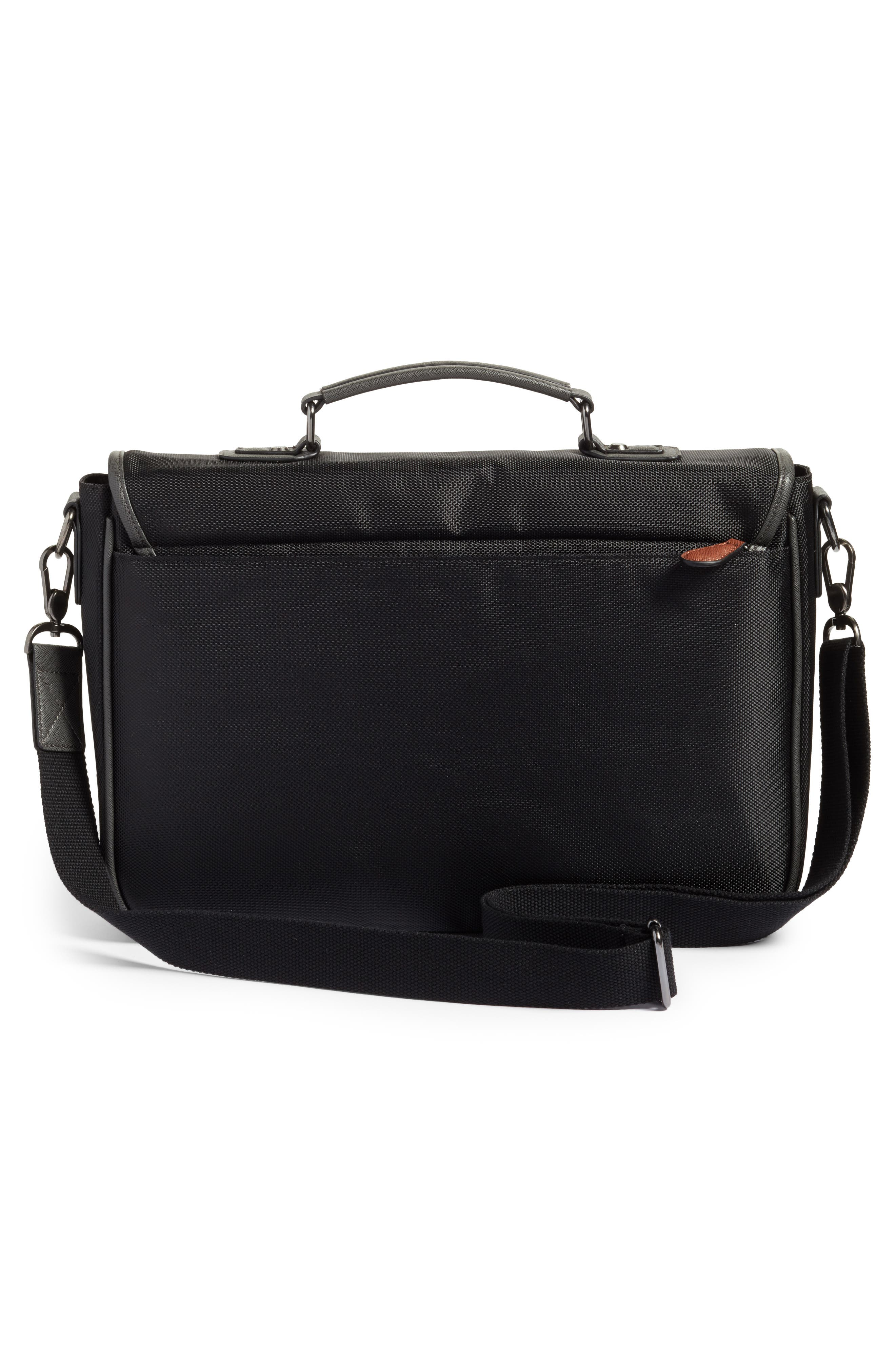 Cattar Messenger Bag,                             Alternate thumbnail 3, color,                             Black