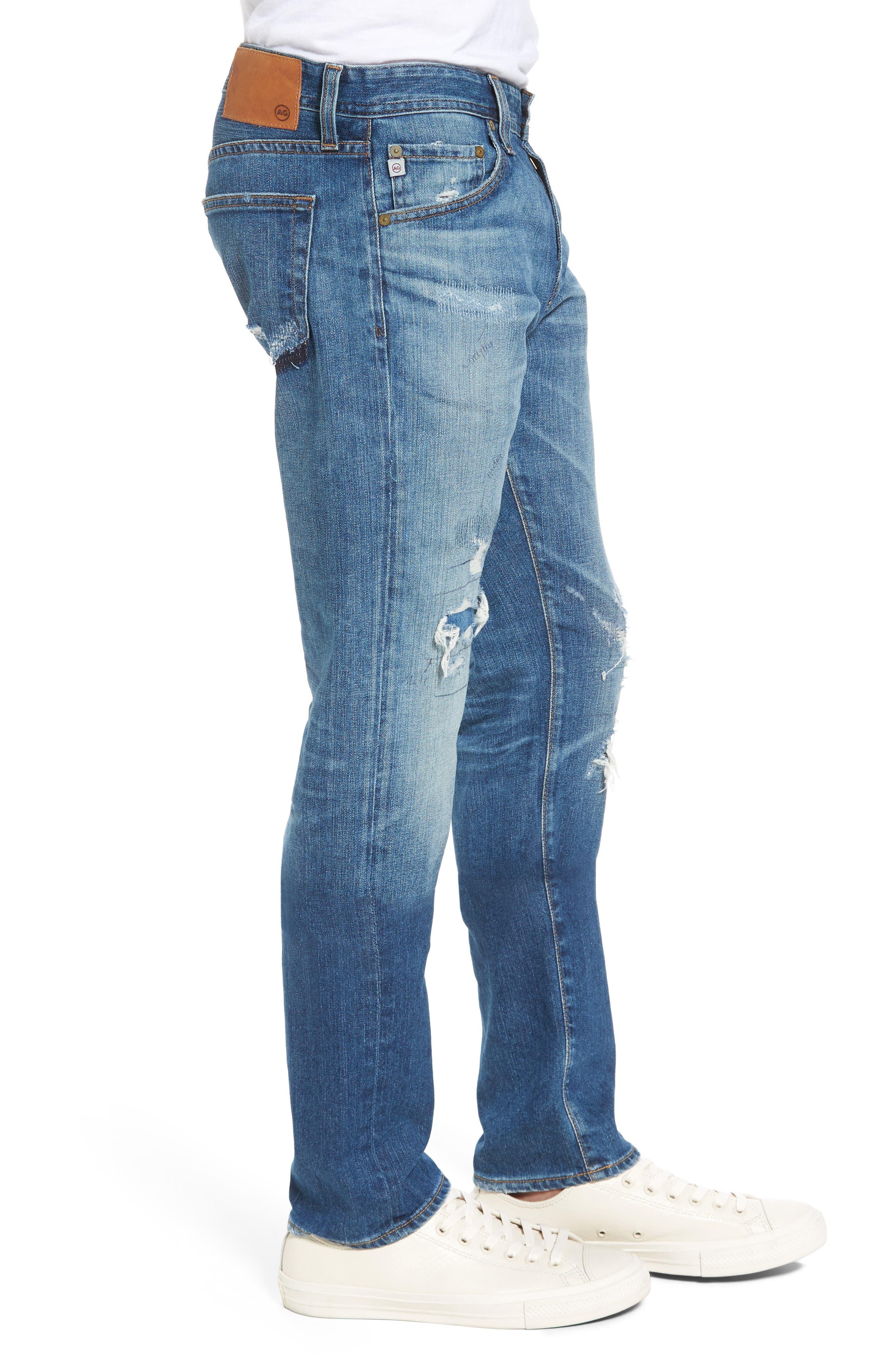 Alternate Image 3  - AG Tellis Slim FIt Jeans (16 Years Rave Mended)