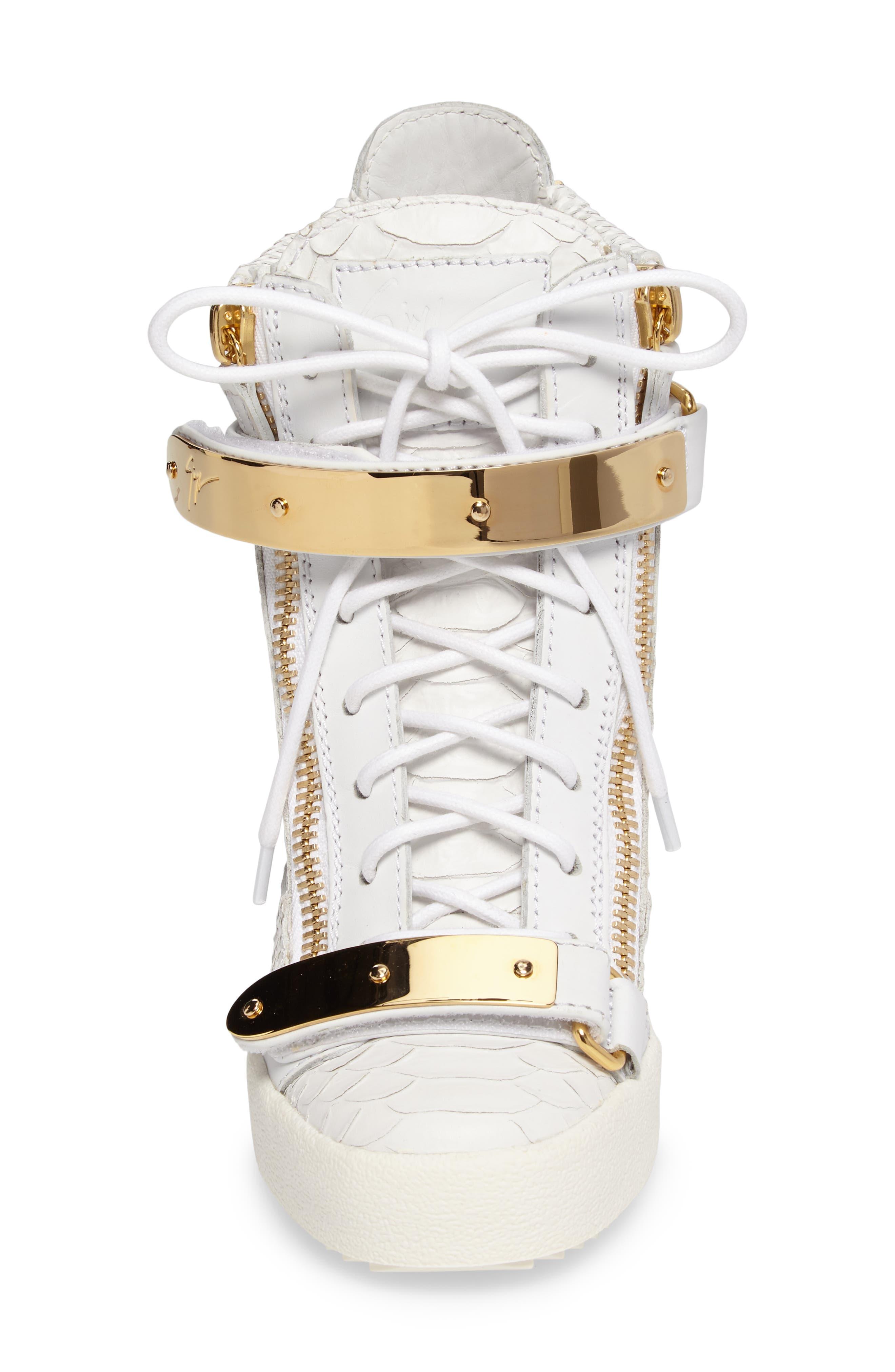 Wedge Sneaker,                             Alternate thumbnail 4, color,                             White