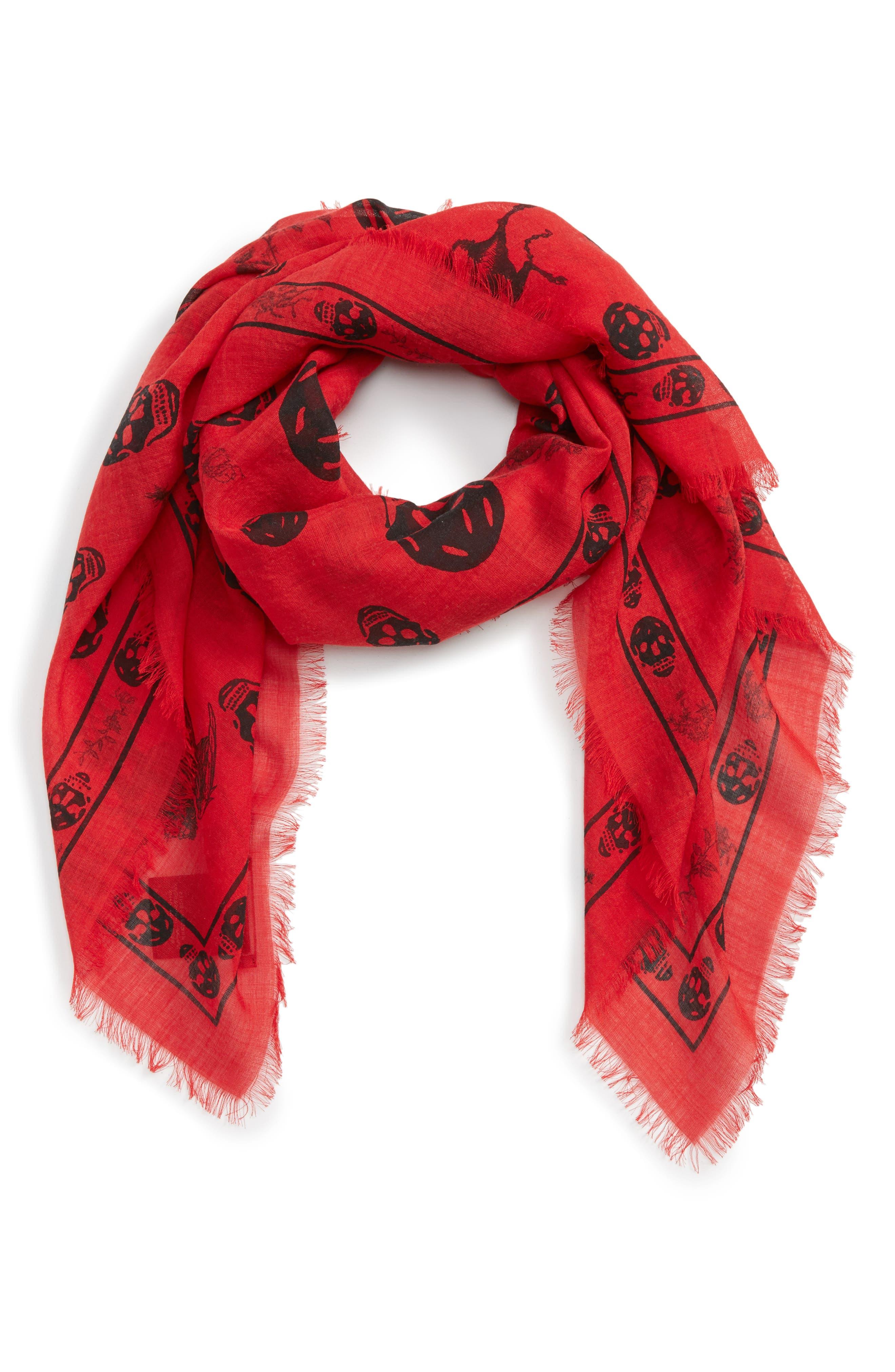 Alexander McQueen Wool & Silk Scarf