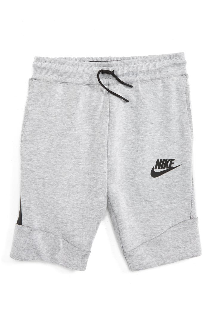 nike 39 tech fleece 39 shorts little boys big boys nordstrom. Black Bedroom Furniture Sets. Home Design Ideas