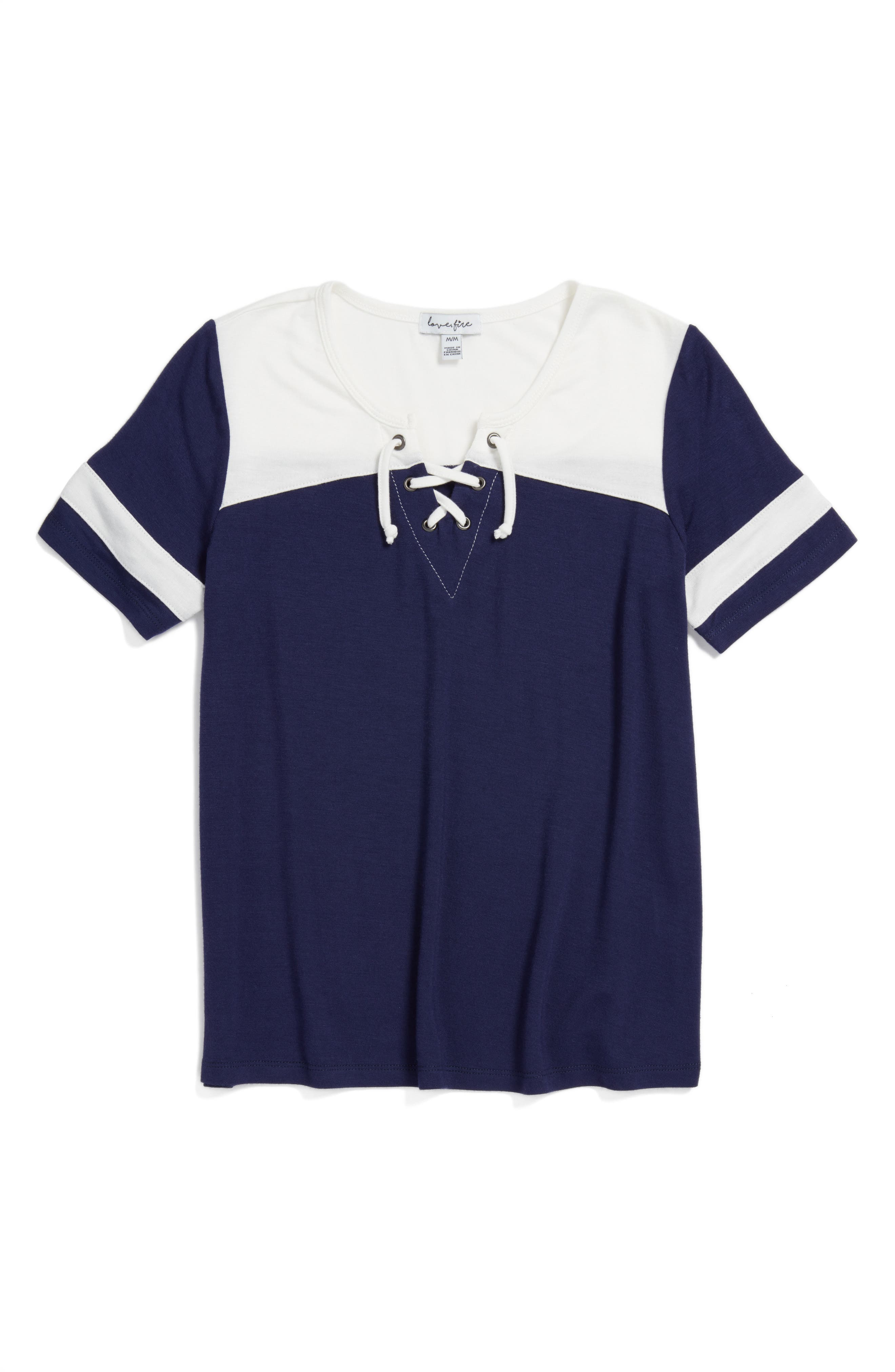 Varsity Baseball Tee,                         Main,                         color, Eclipse/ White