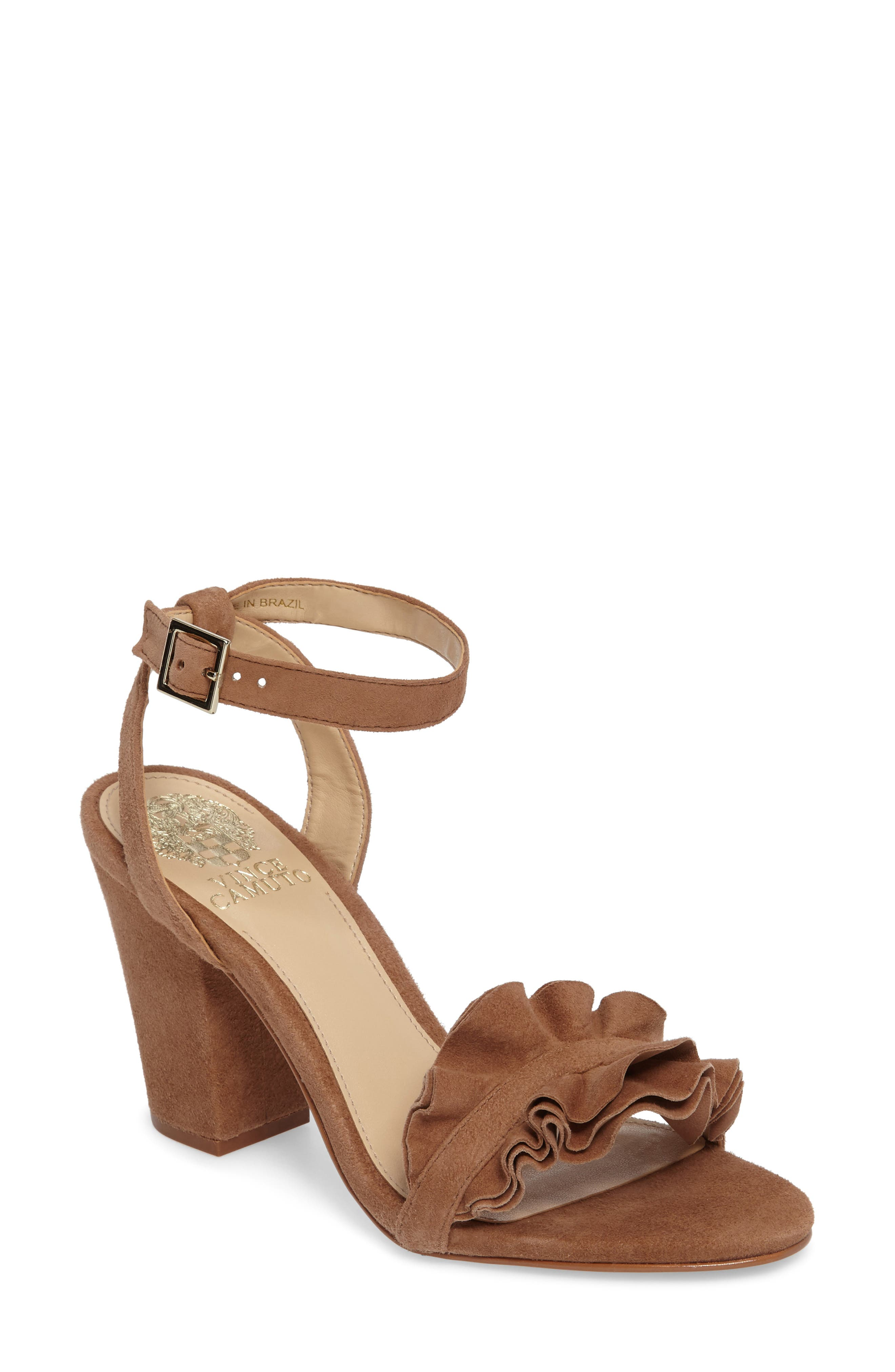 Vinta Sandal,                         Main,                         color, Amendoa Suede