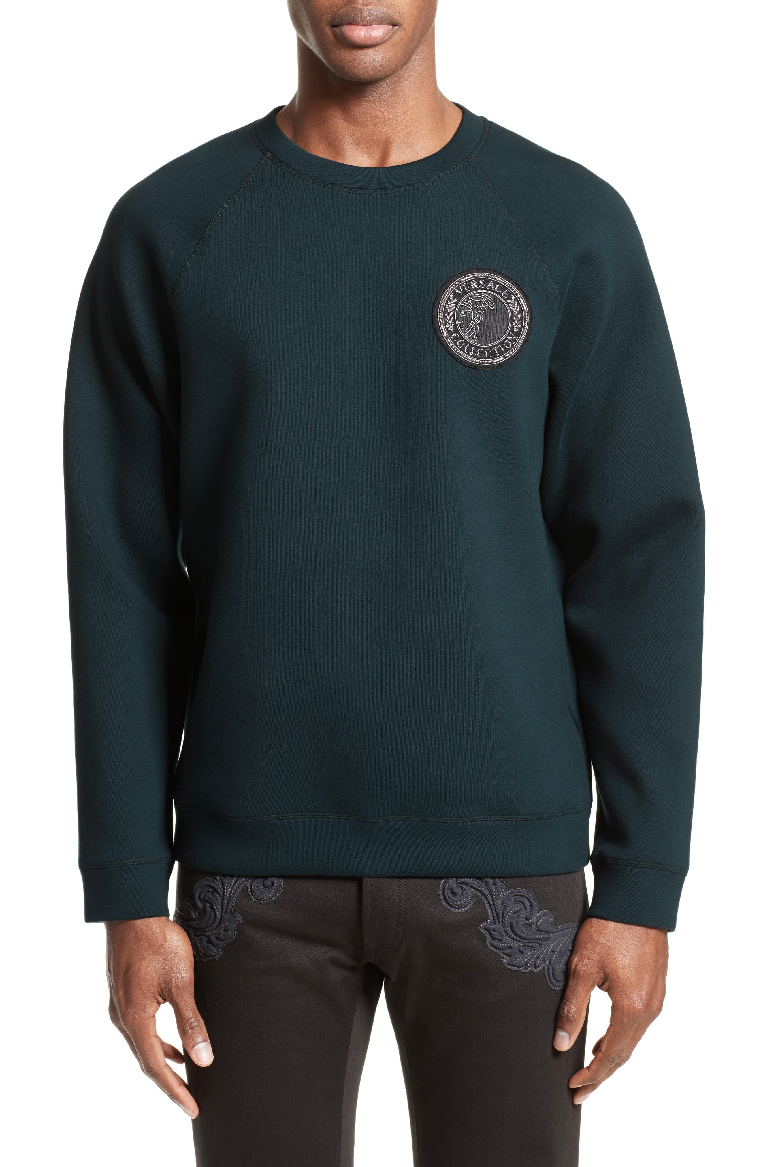 Alternate Image 1 Selected - Versace Collection Crest Sweatshirt