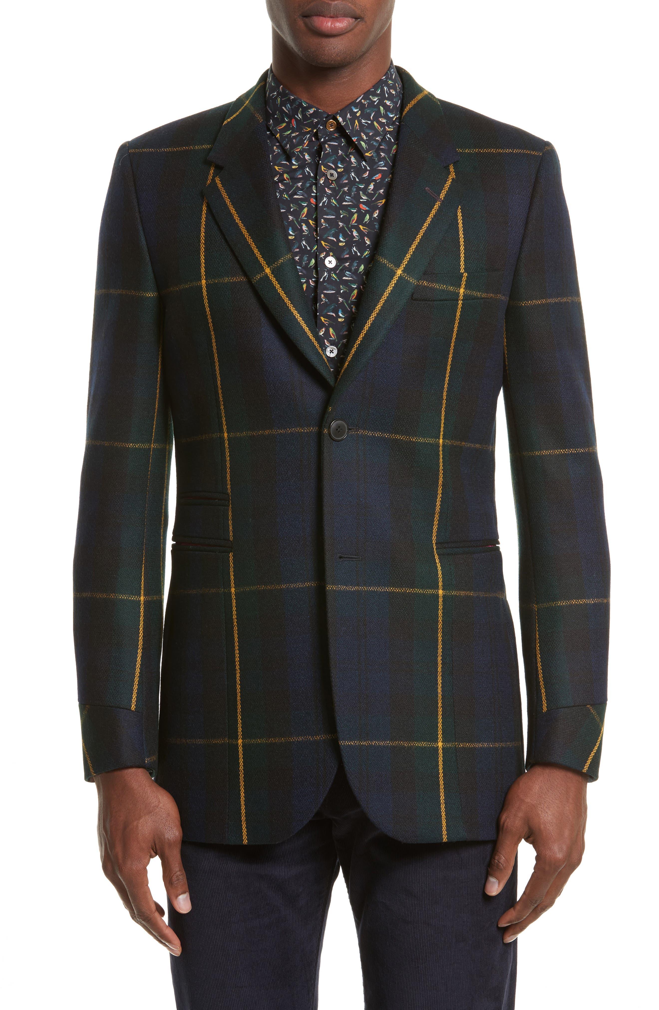 Paul Smith Tartan Long Sport Coat