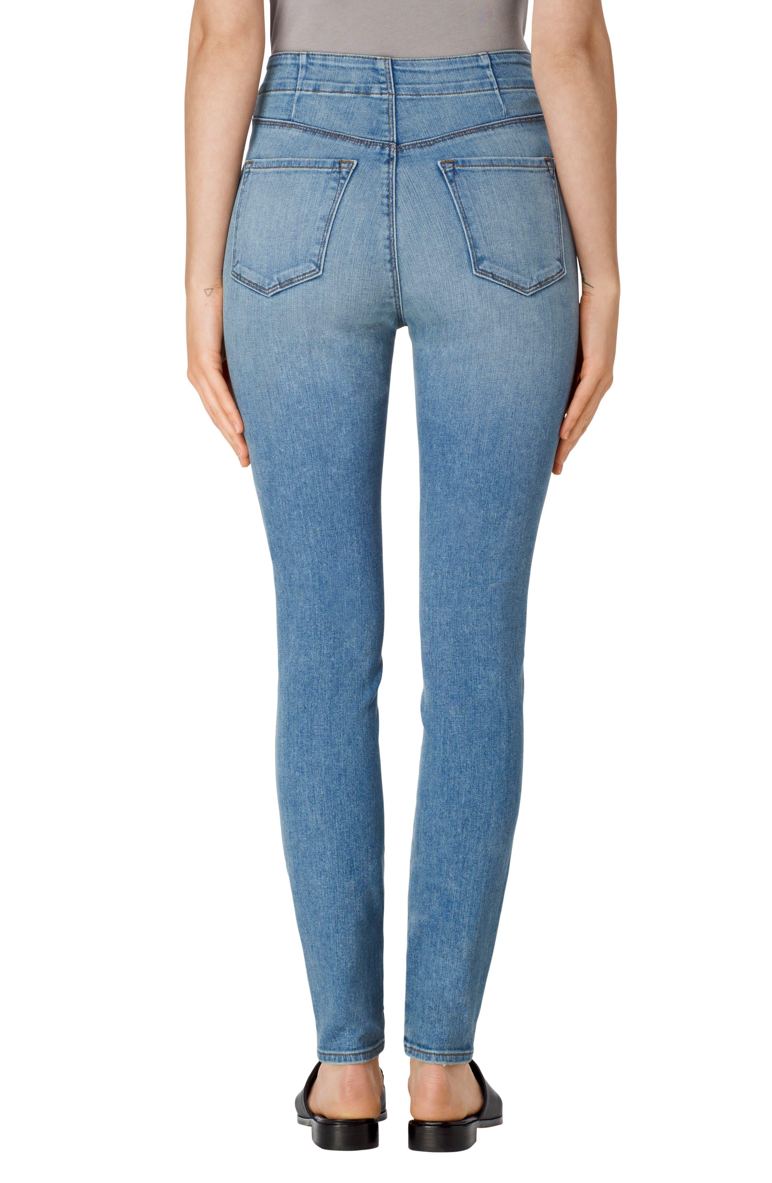 Alternate Image 2  - J Brand Natasha Sky High High Waist Skinny Jeans (Nordstrom Exclusive)