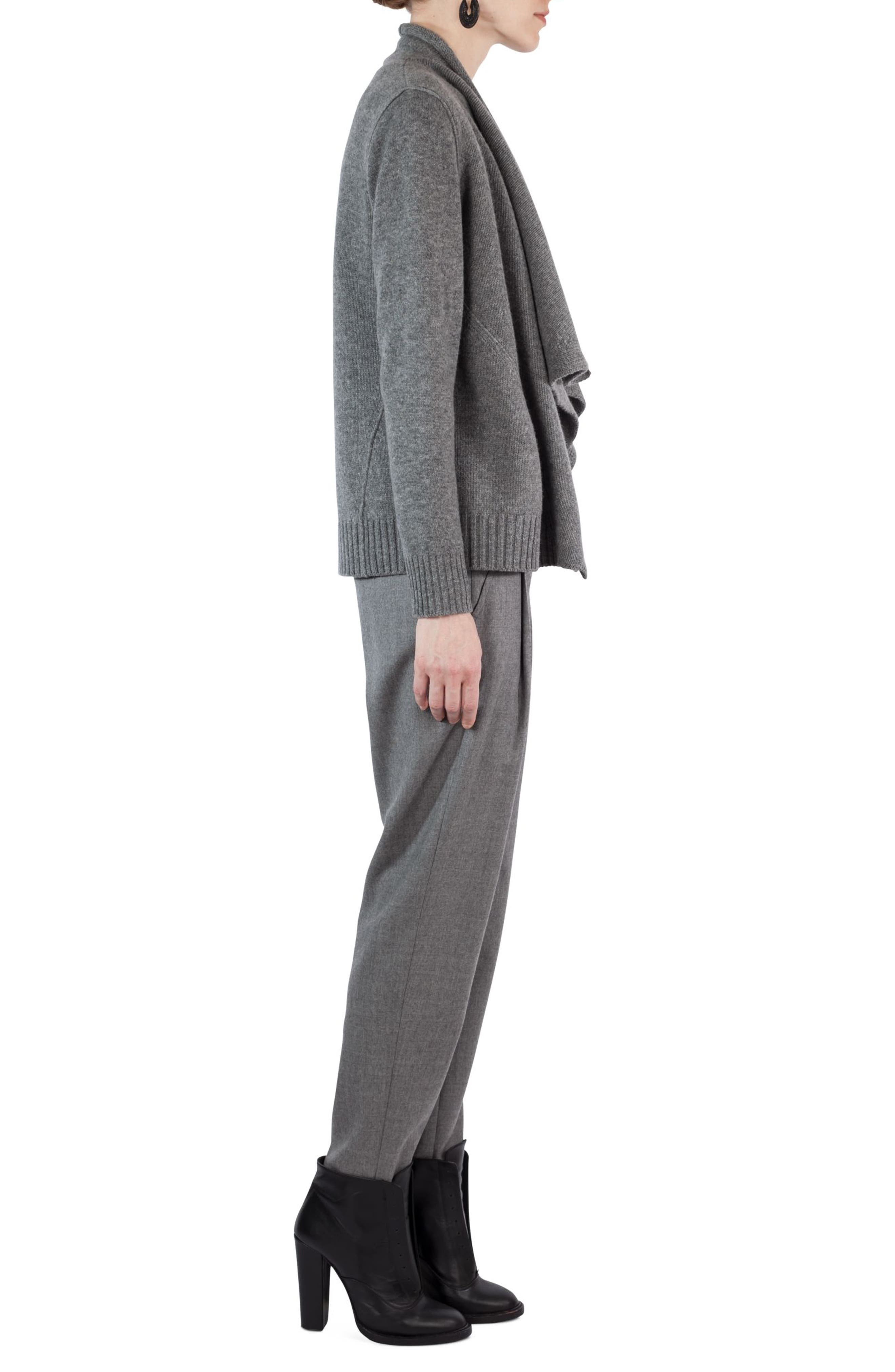 Wool & Cashmere Cardigan,                             Alternate thumbnail 3, color,                             Stone