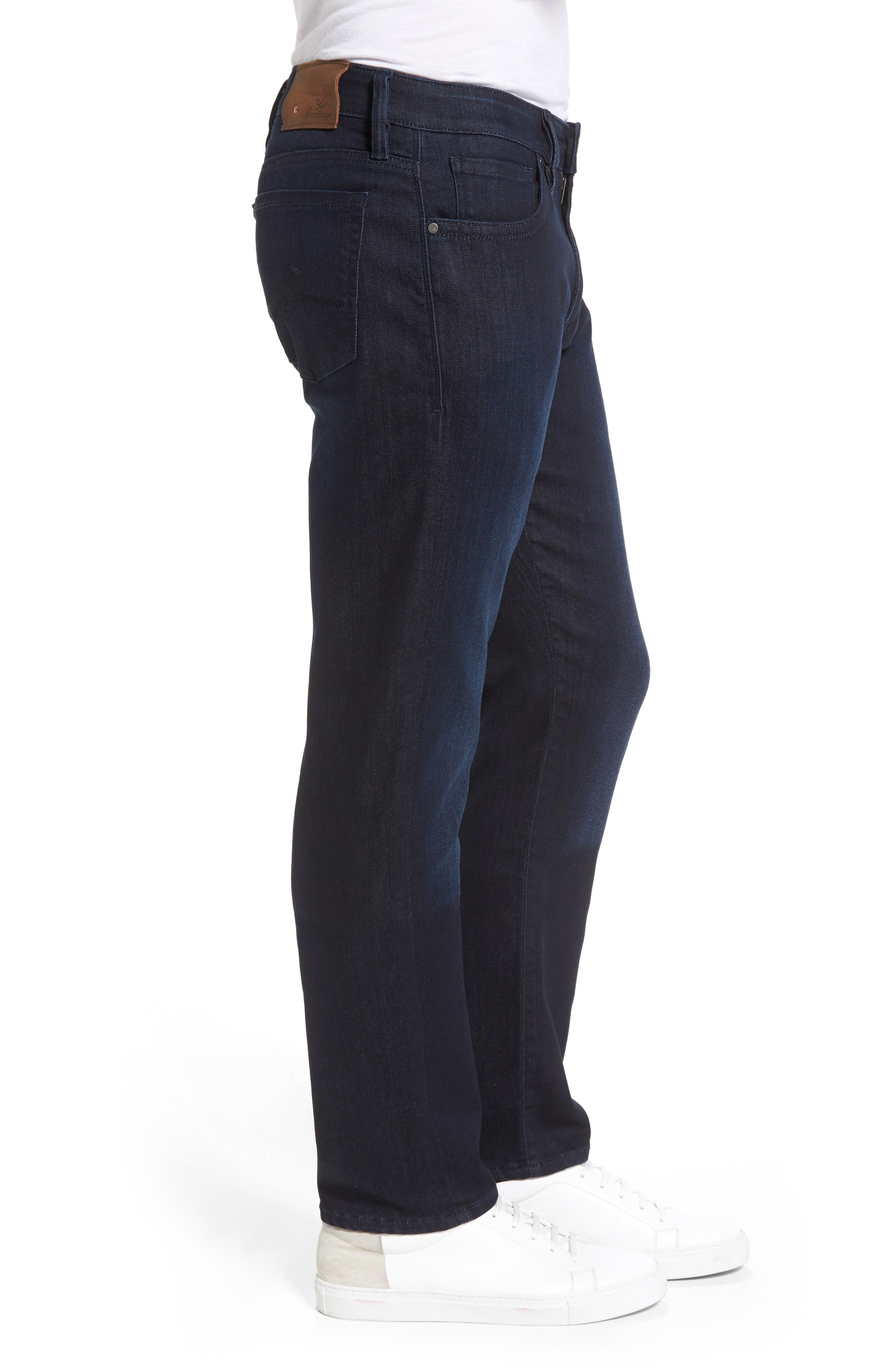Alternate Image 3  - 34 Heritage Courage Straight Leg Jeans (Dark Rome)
