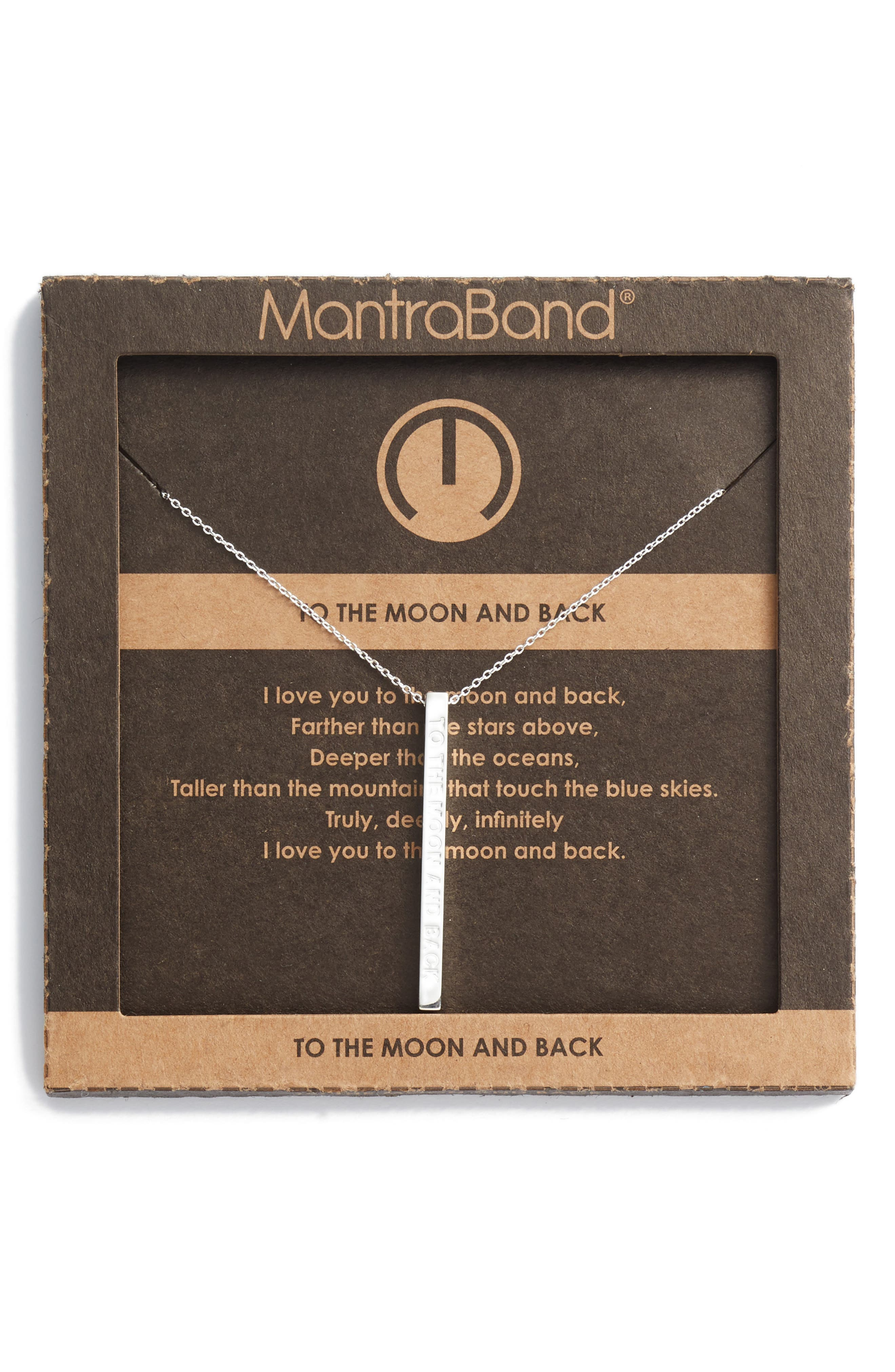 Alternate Image 3  - MantraBand® To the Moon & Back Pendant Necklace
