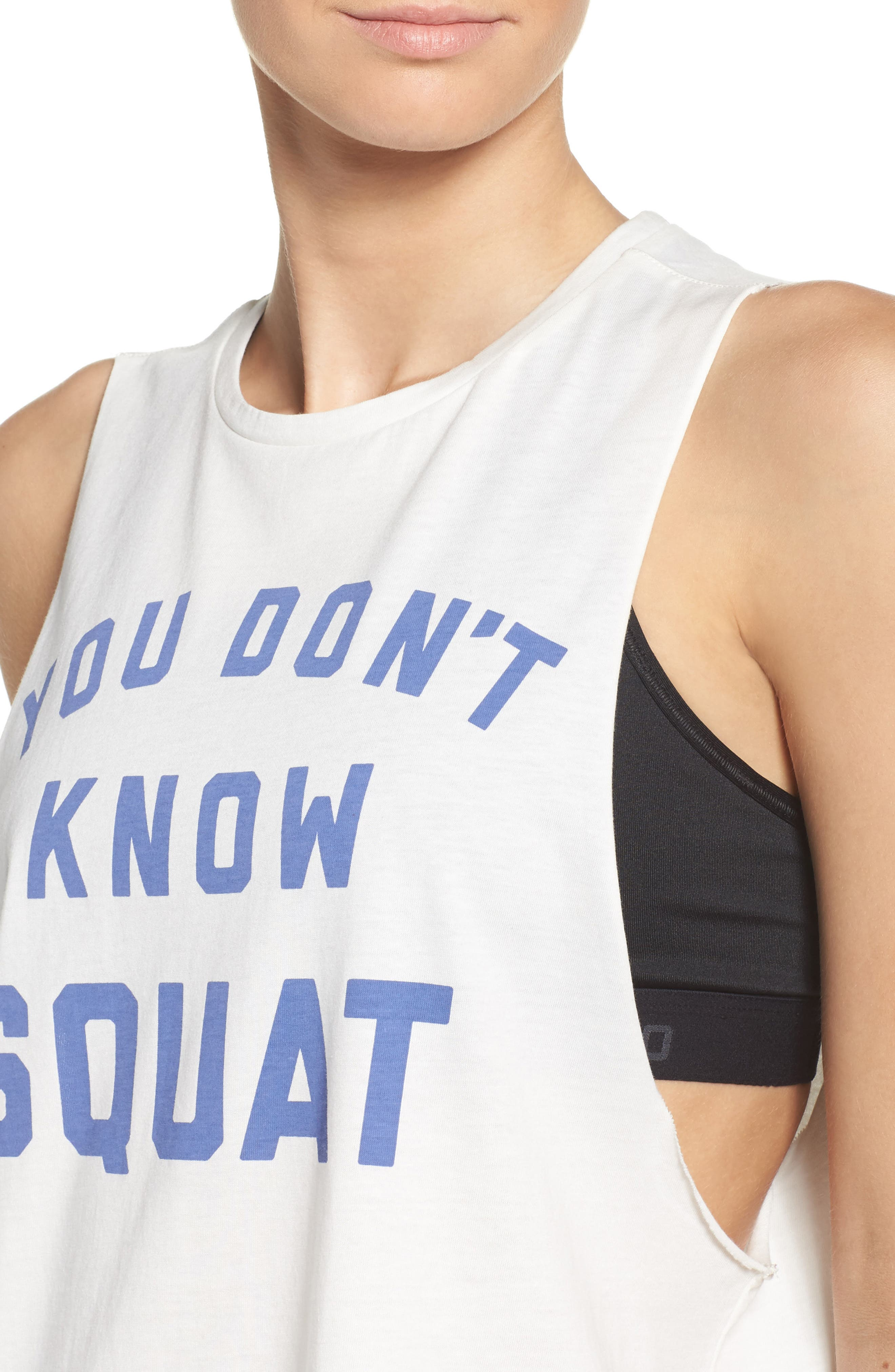 You Don't Know Squat Muscle Tank,                             Alternate thumbnail 4, color,                             Chalk