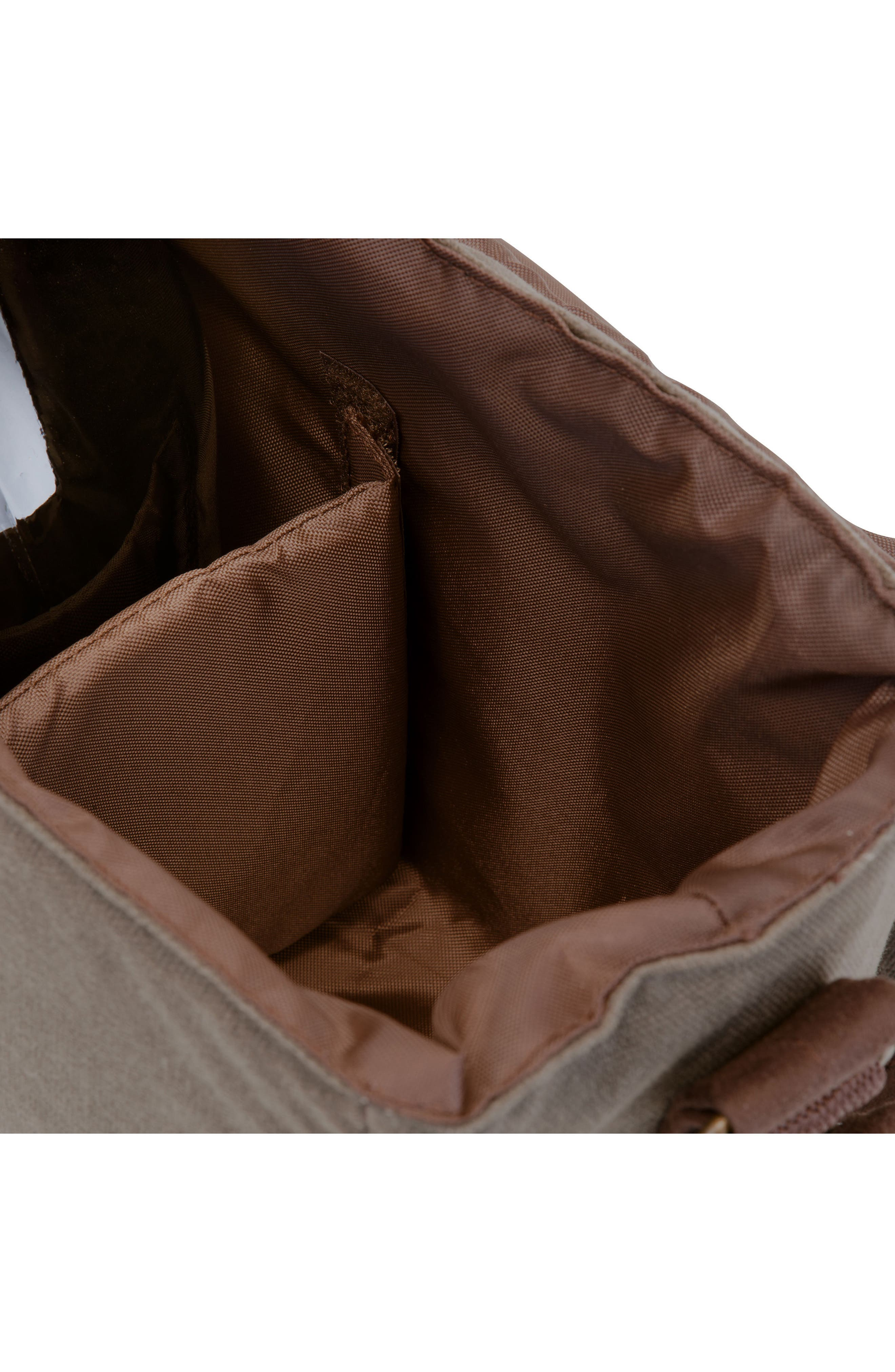 Insulated Double Growler Tote,                             Alternate thumbnail 3, color,                             Green/ Brown