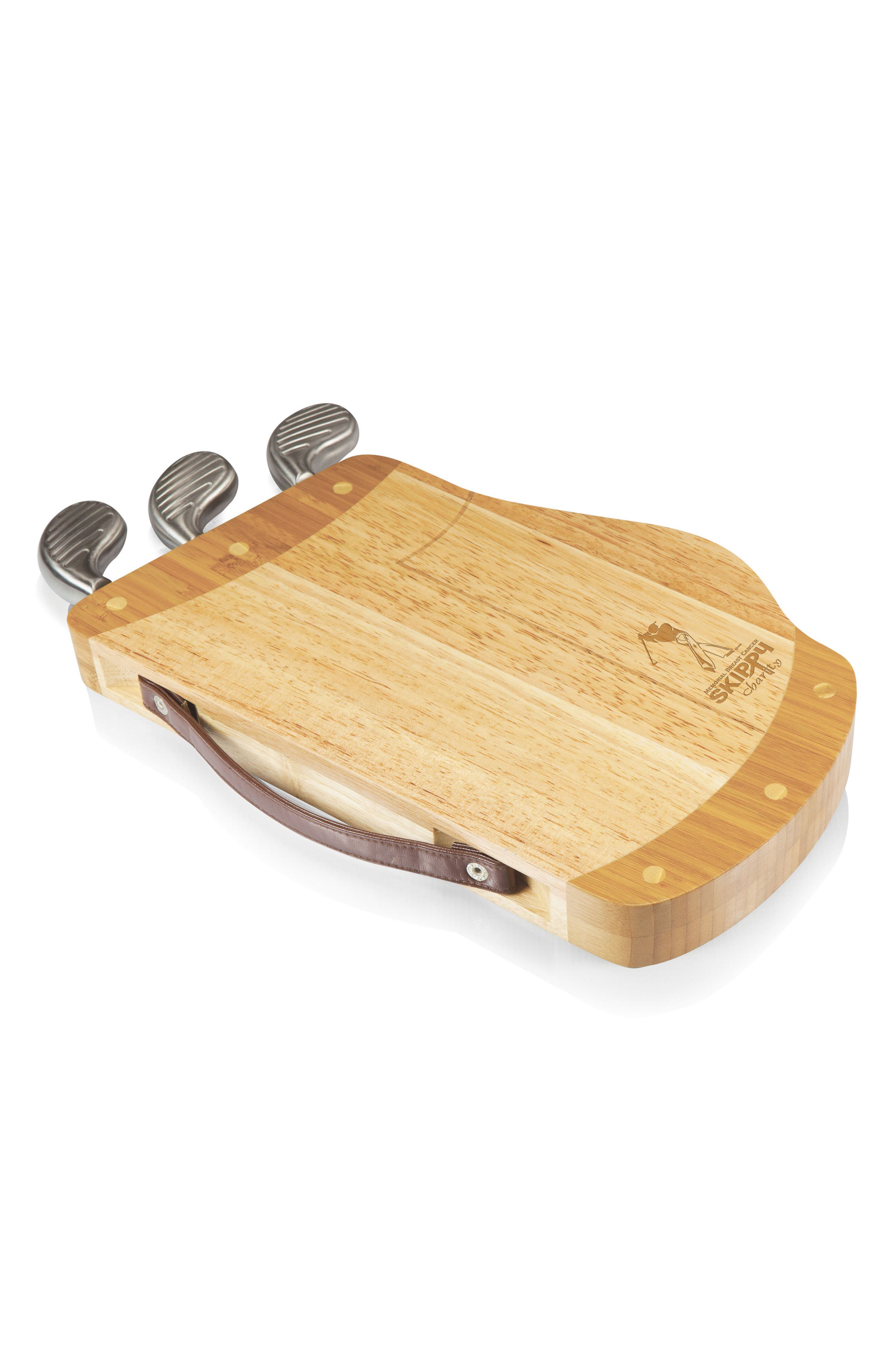 Caddy Cheese Board & Tools Set,                             Alternate thumbnail 4, color,                             Brown