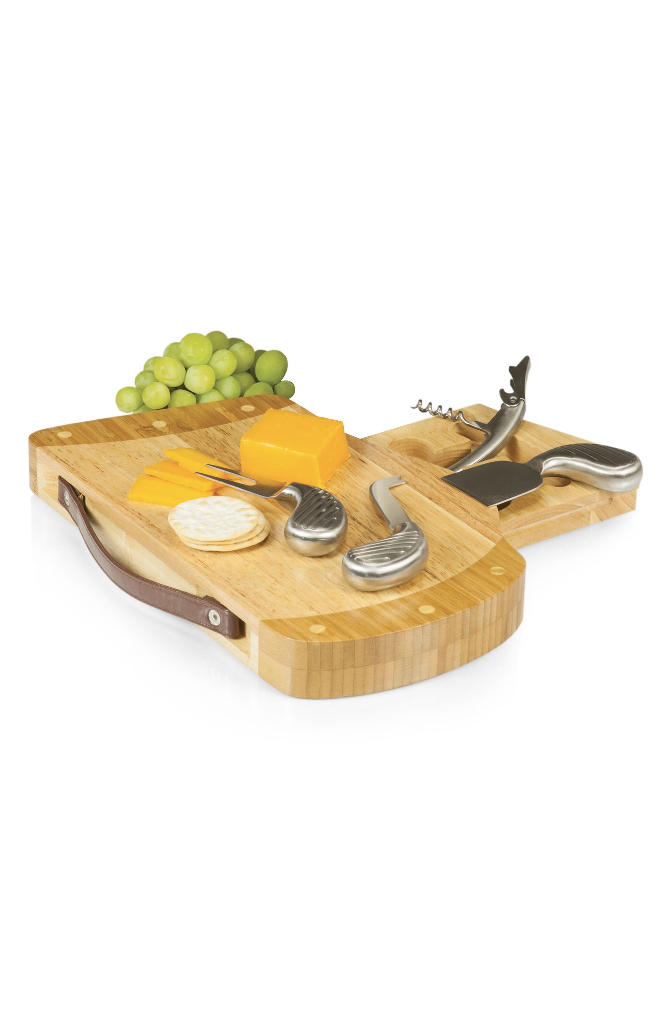 Caddy Cheese Board & Tools Set,                             Alternate thumbnail 6, color,                             Brown
