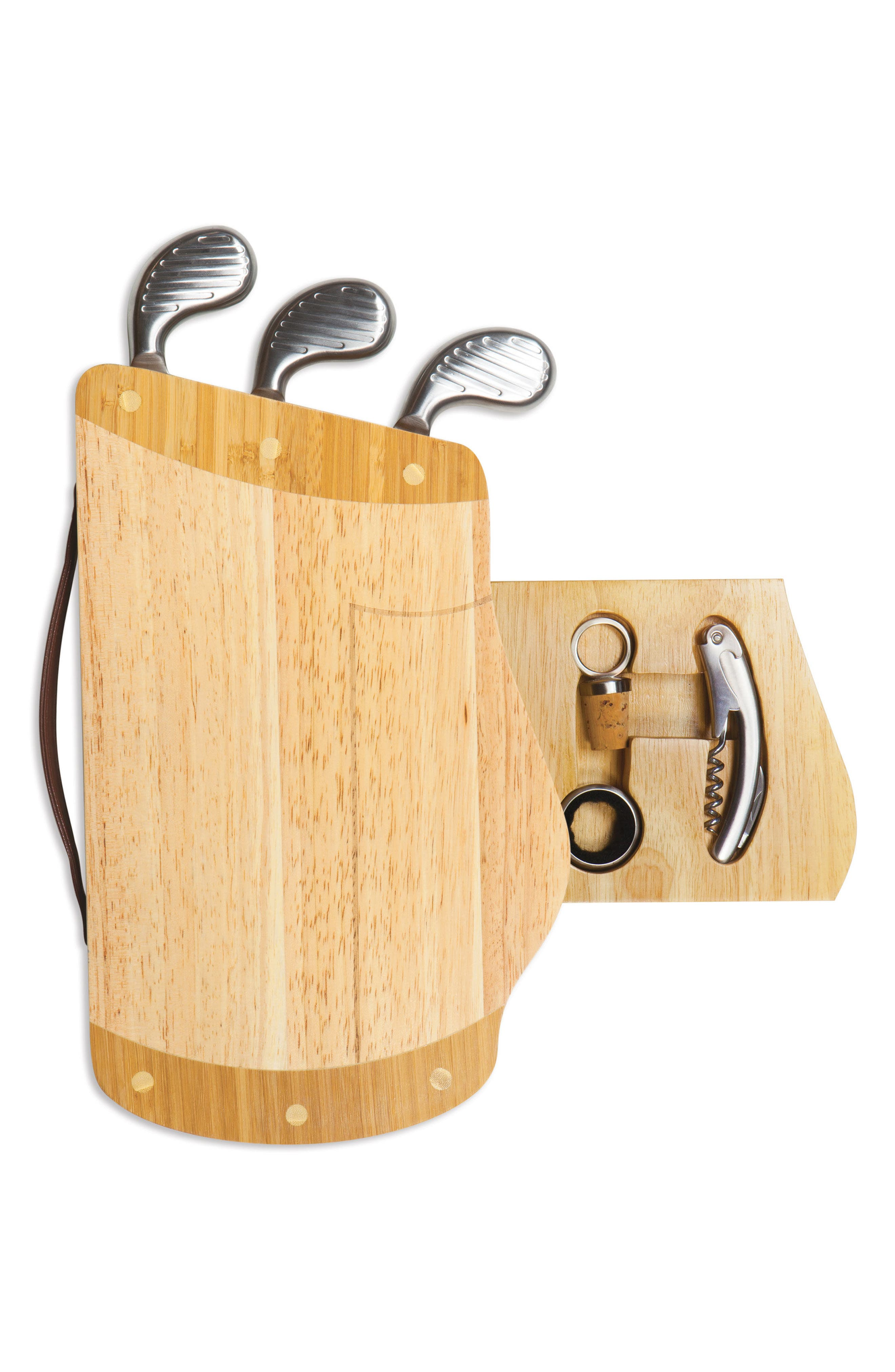 Caddy Cheese Board & Tools Set,                             Alternate thumbnail 8, color,                             Brown