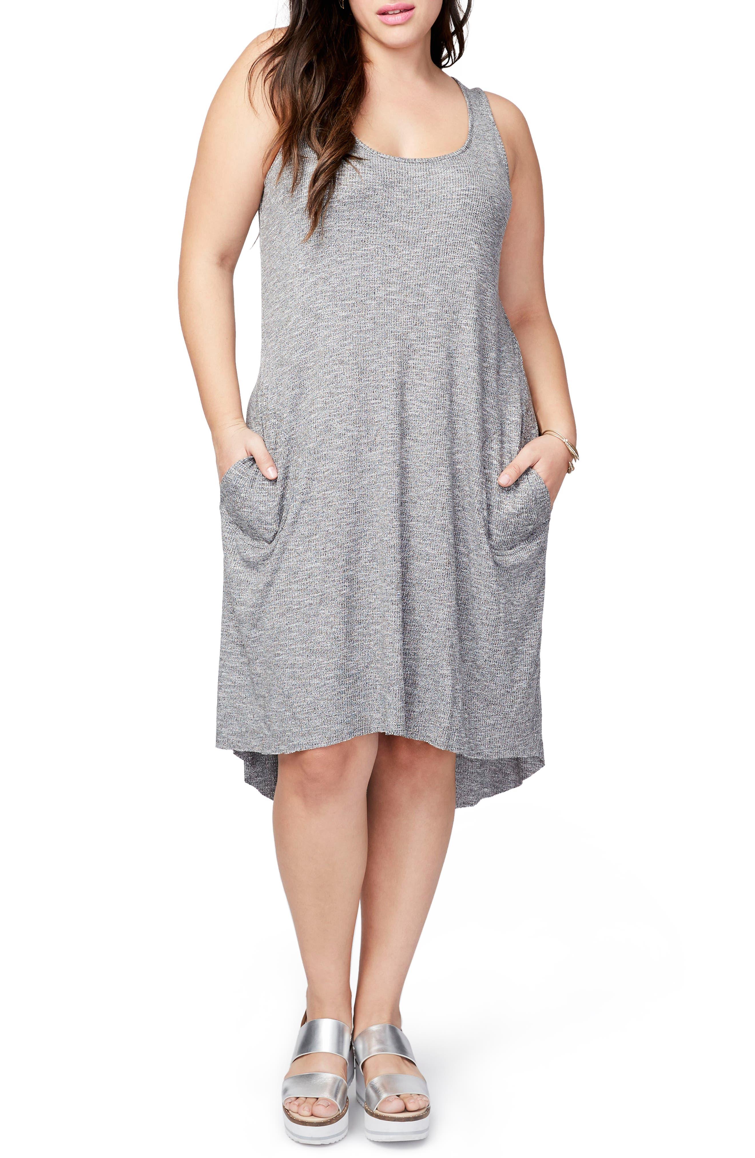 RACHEL Rachel Roy Rib Knit High/Low Dress (Plus Size)