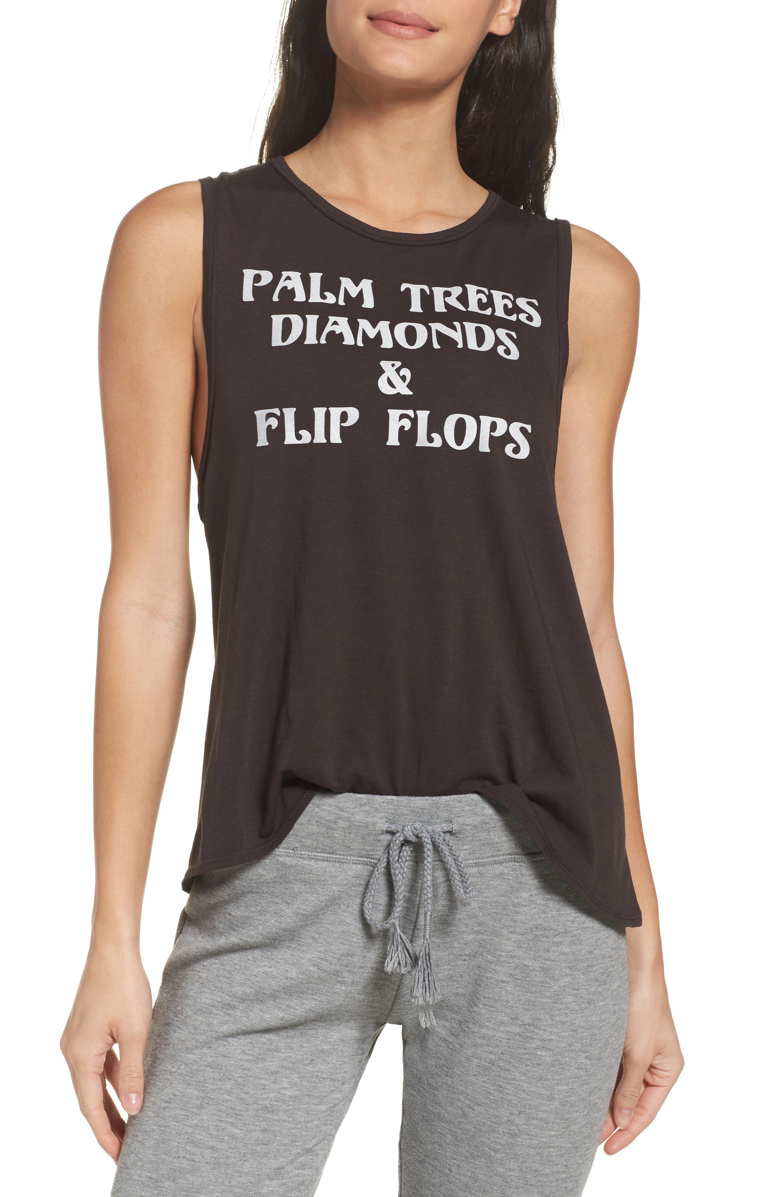 CHASER Palm Trees & Diamonds Muscle Tank