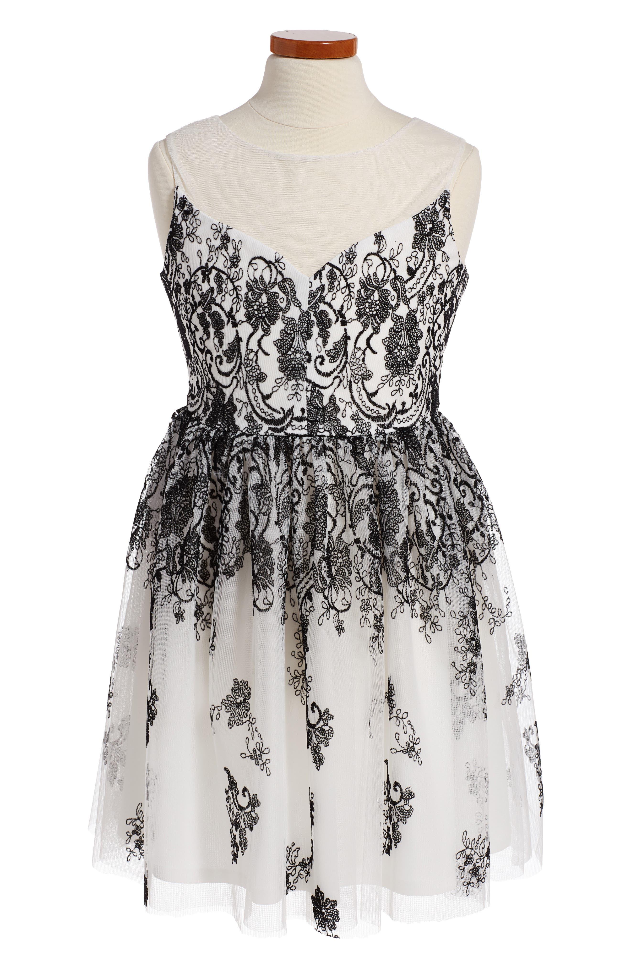 FRAIS Illusion Mesh Dress