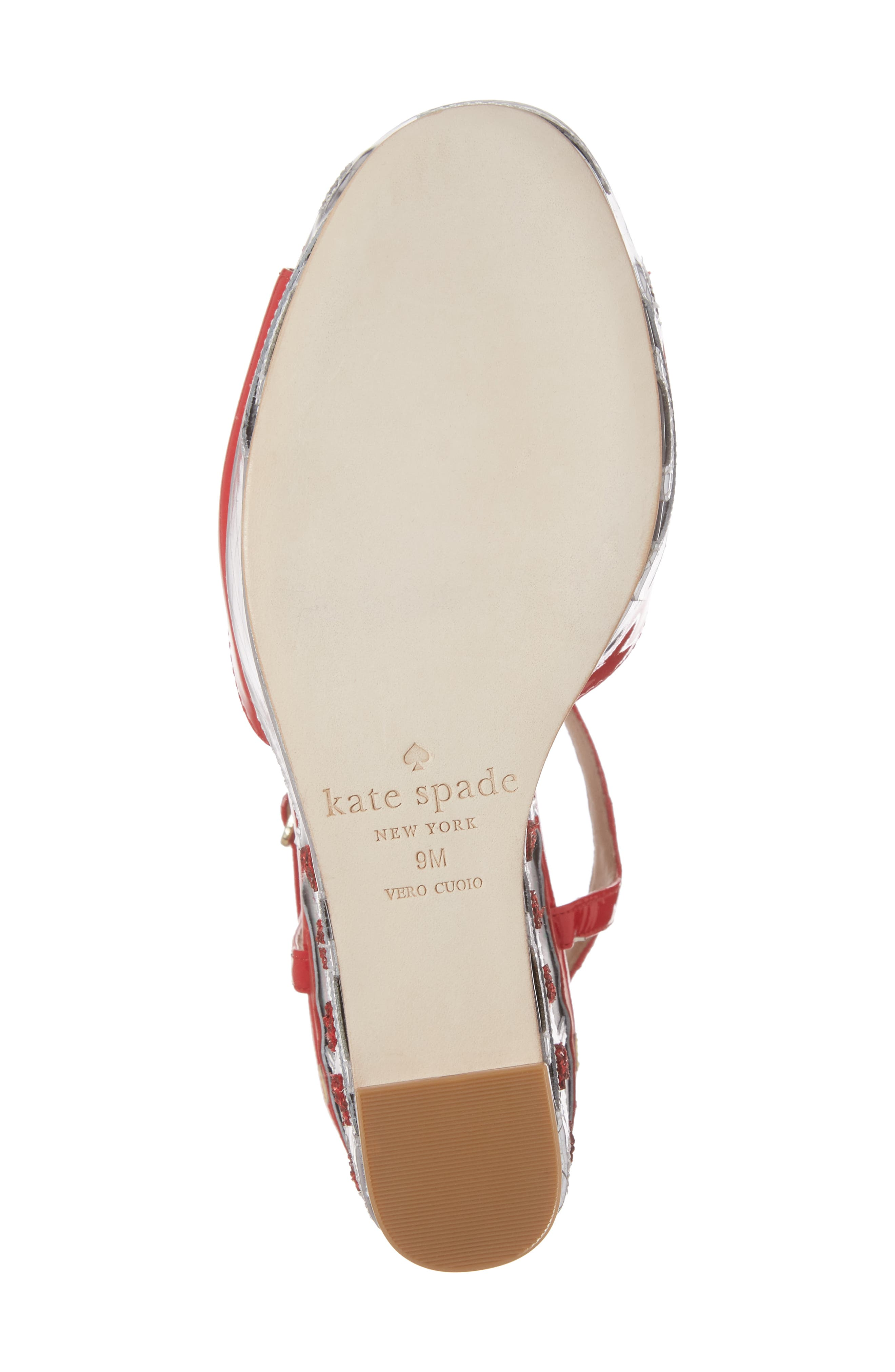 dora wedge sandal,                             Alternate thumbnail 6, color,                             Maraschino Red Patent