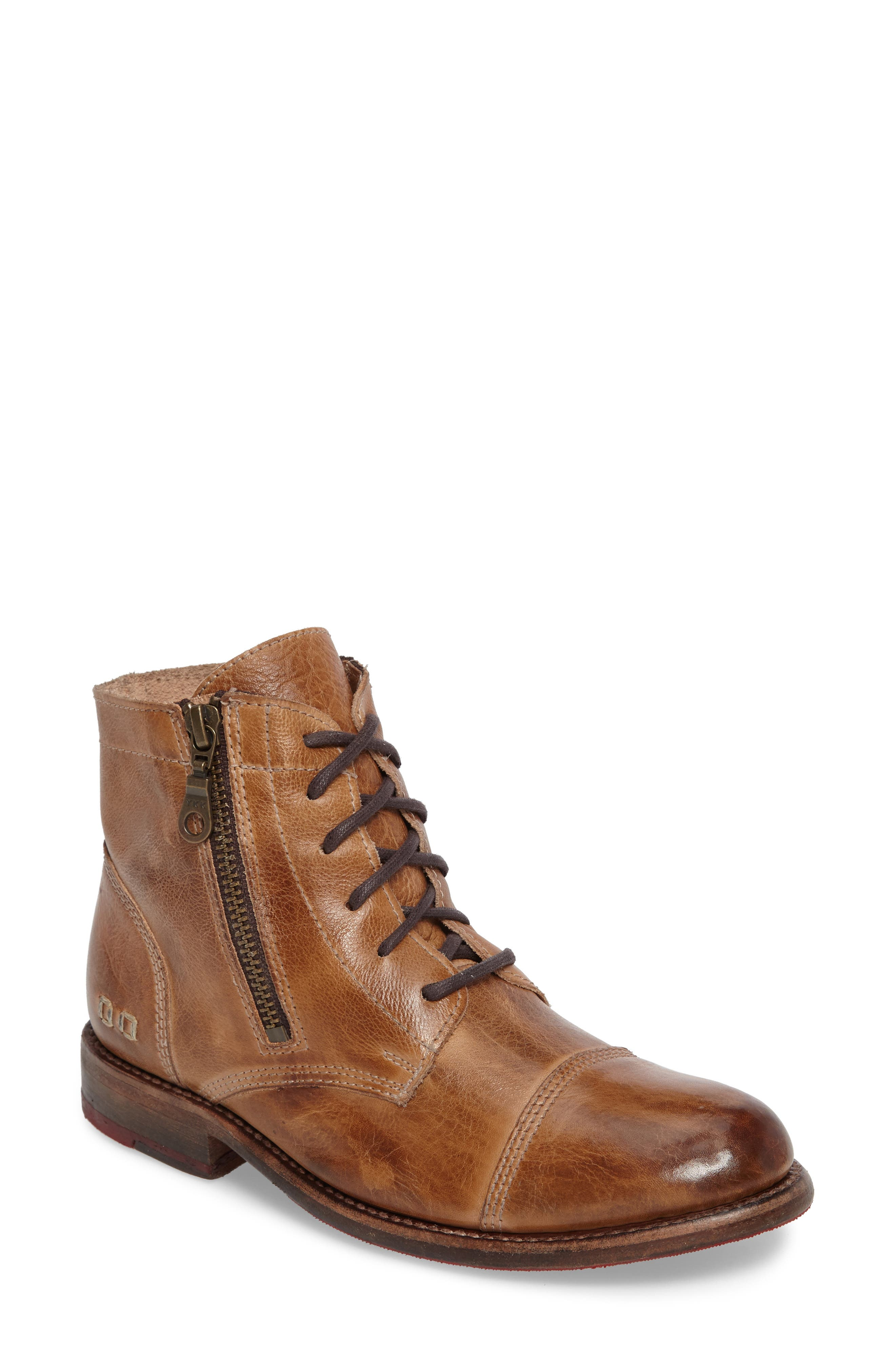 'Bonnie' Boot,                         Main,                         color, Tan Rustic Leather