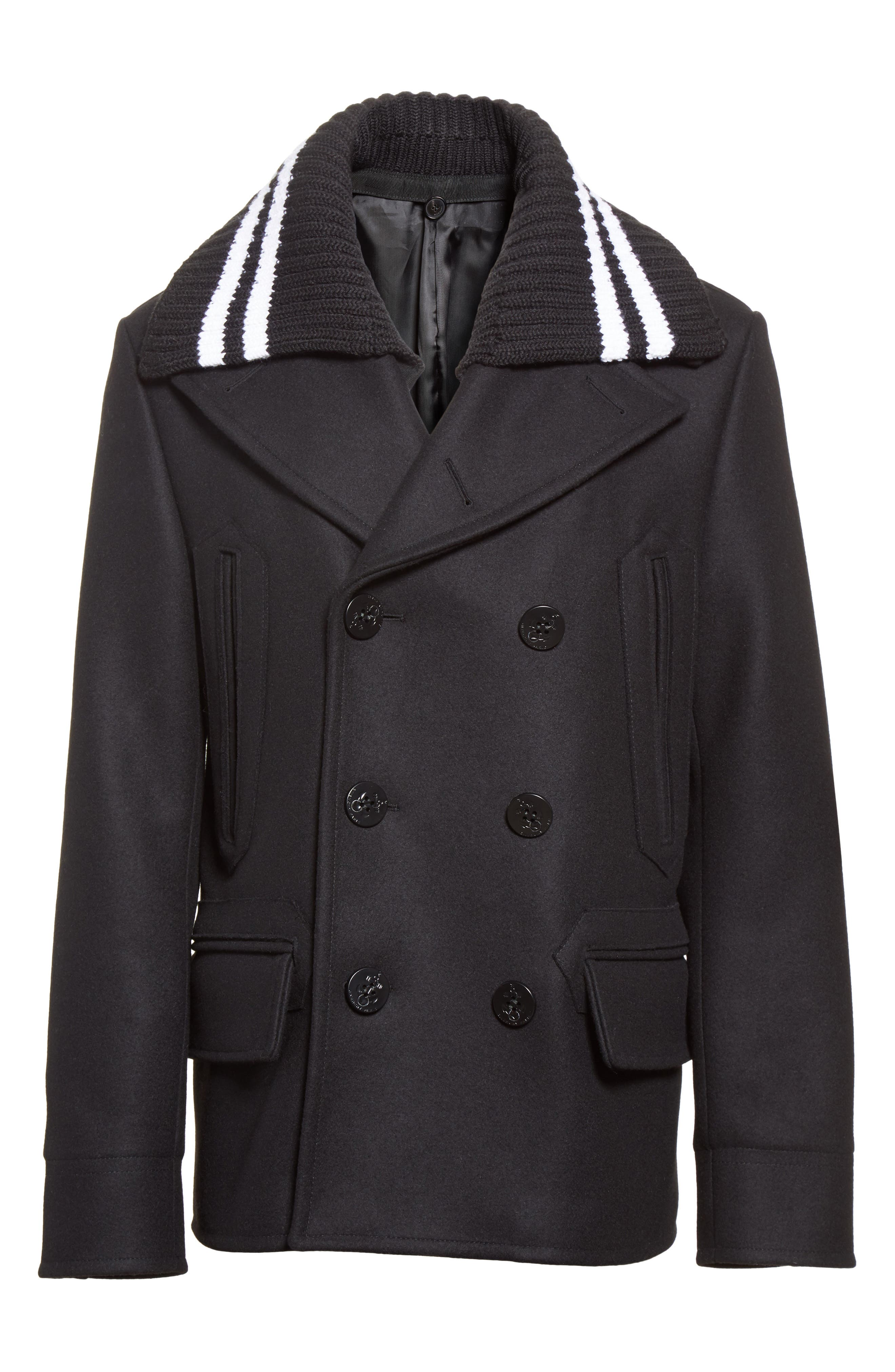 Alternate Image 6  - Givenchy Knit Collar Peacoat
