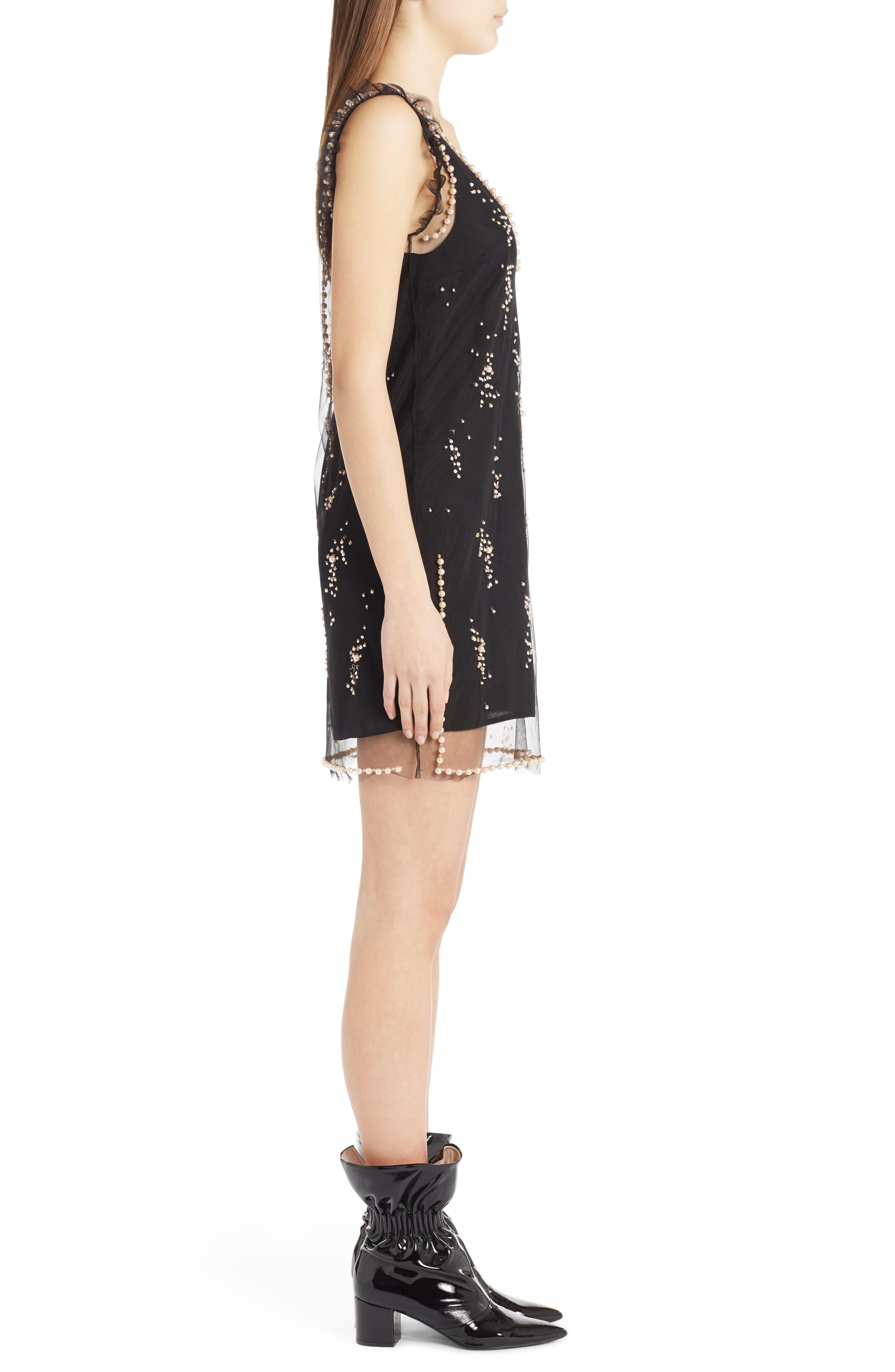 Alternate Image 3  - MSGM Imitation Pearl Embellished Tulle Dress