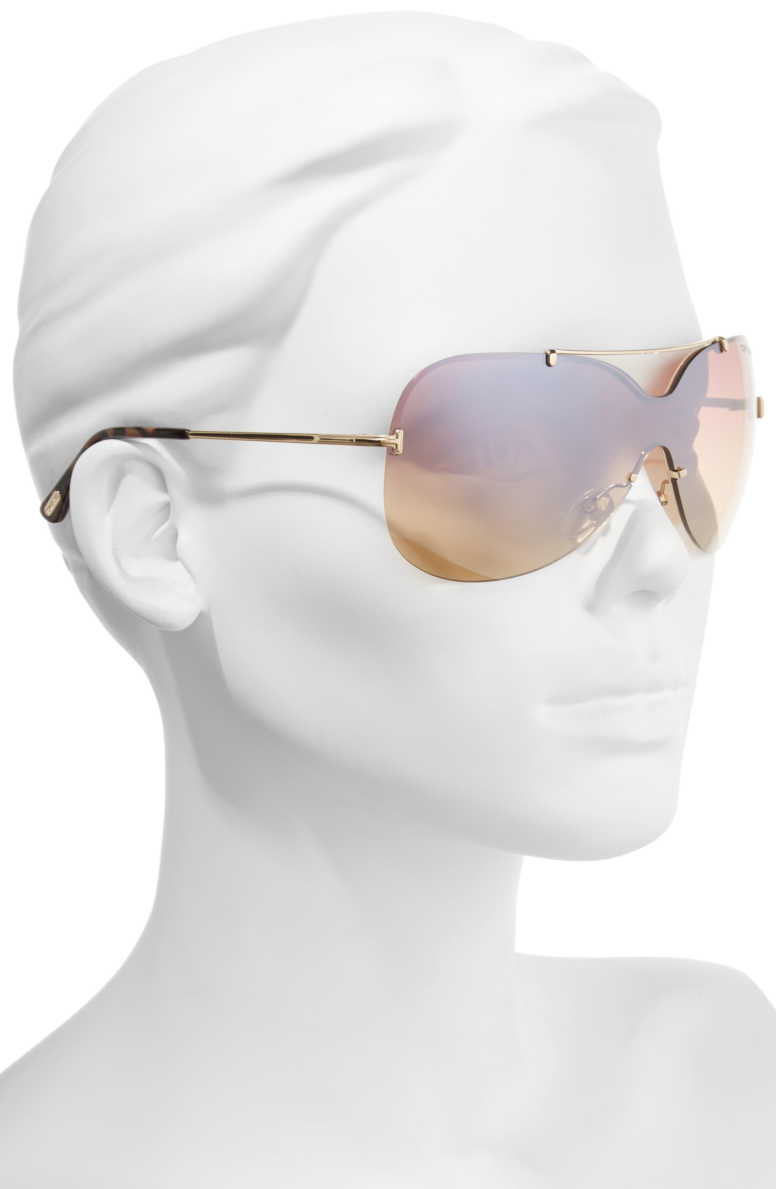 Alternate Image 2  - Tom Ford Ondria Gradient Lens Shield Sunglasses