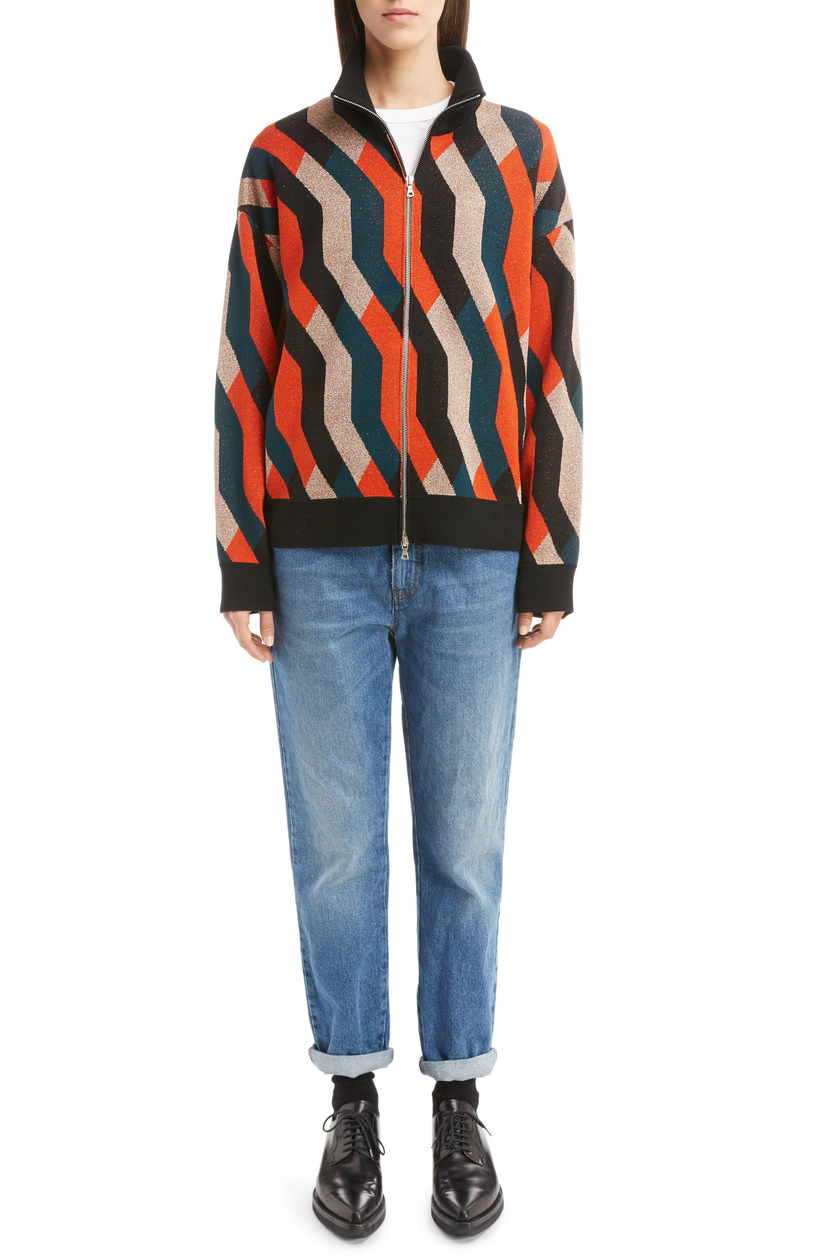 Alternate Image 6  - Dries Van Noten Graphic Knit Merino Wool Cardigan