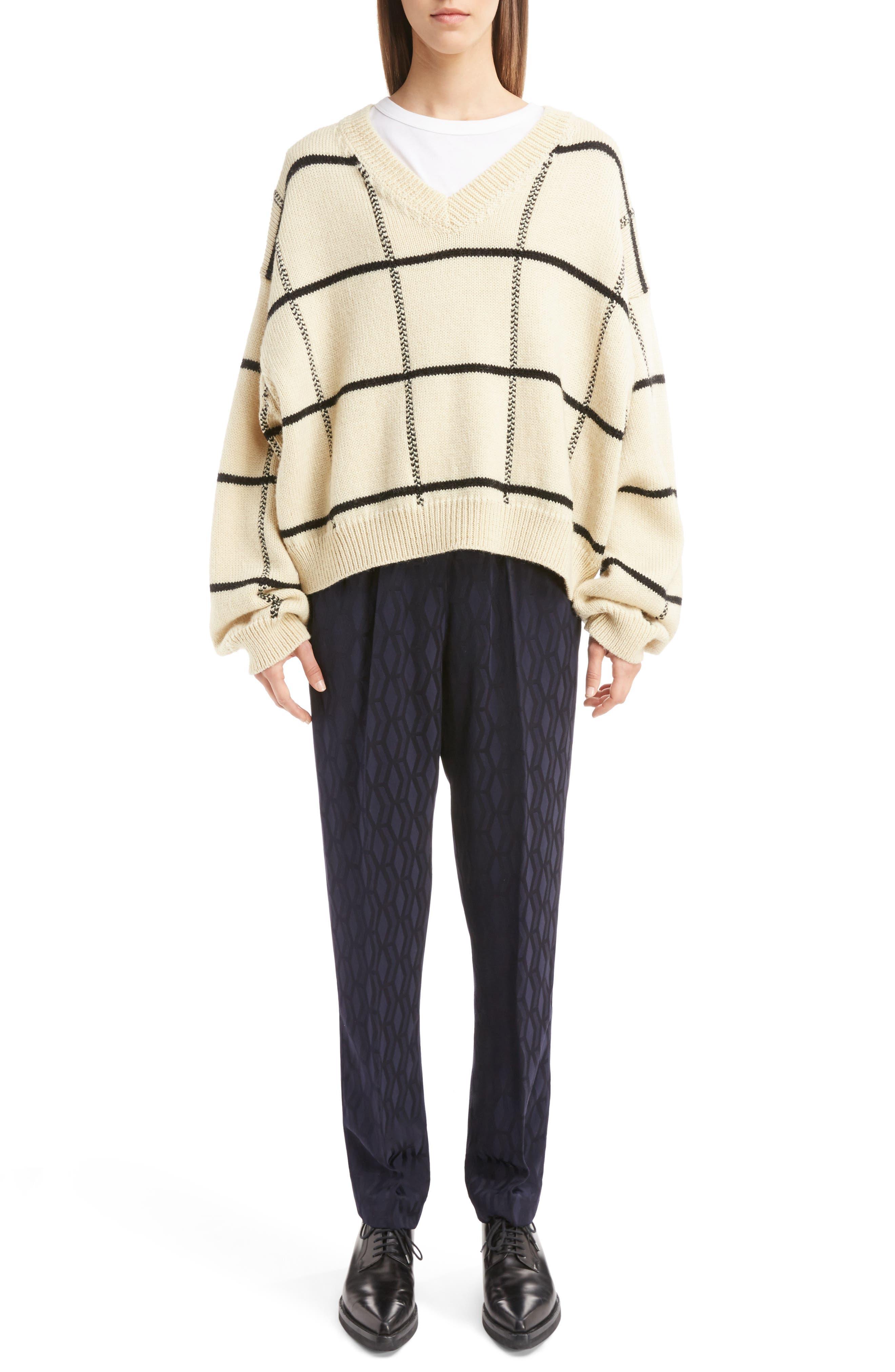 Alternate Image 6  - Dries Van Noten Windowpane Knit Wool Sweater
