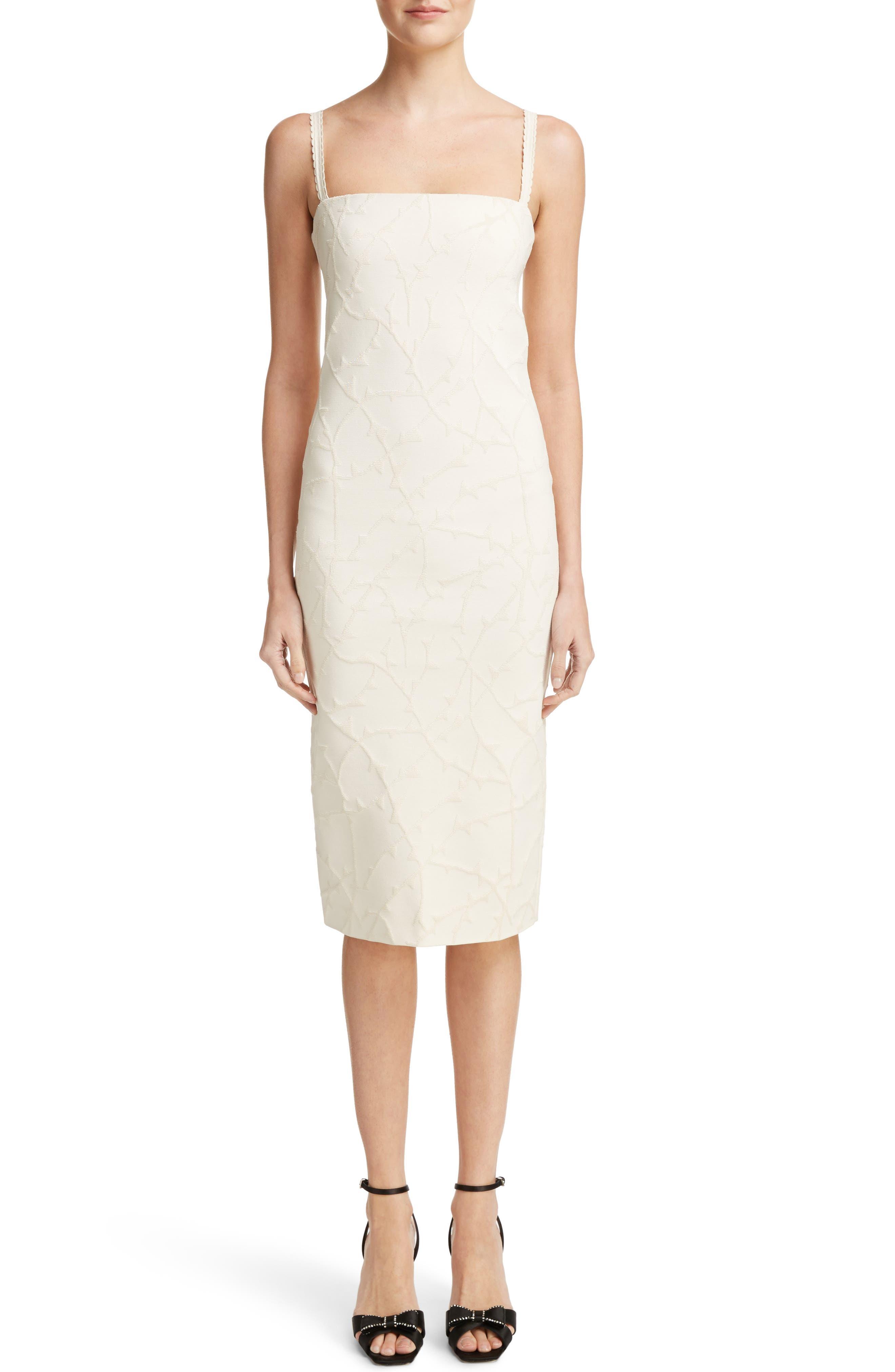 Jacquard Knit Dress,                         Main,                         color, Off White