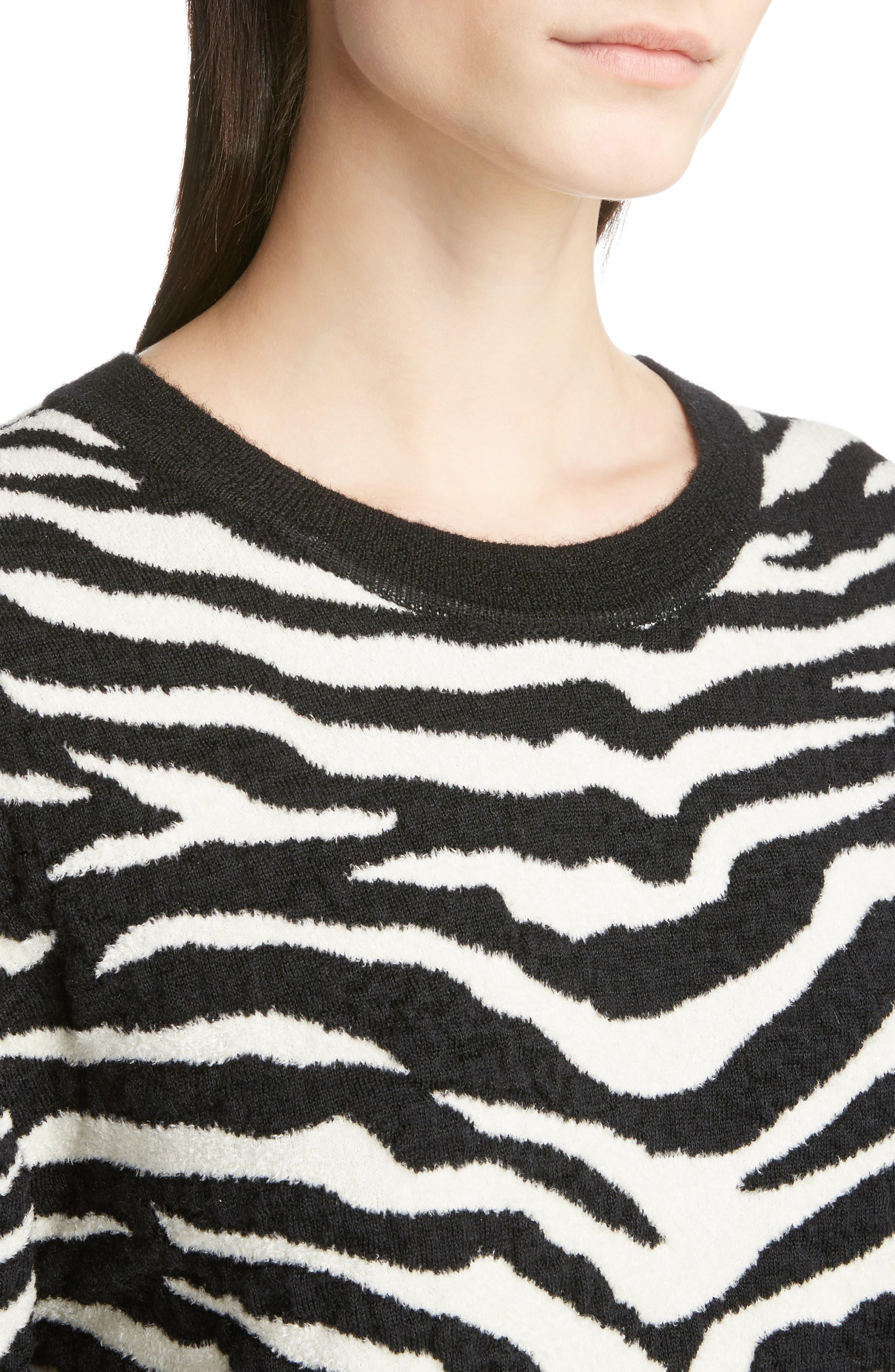 Alternate Image 4  - Saint Laurent Tiger Knit Sweater
