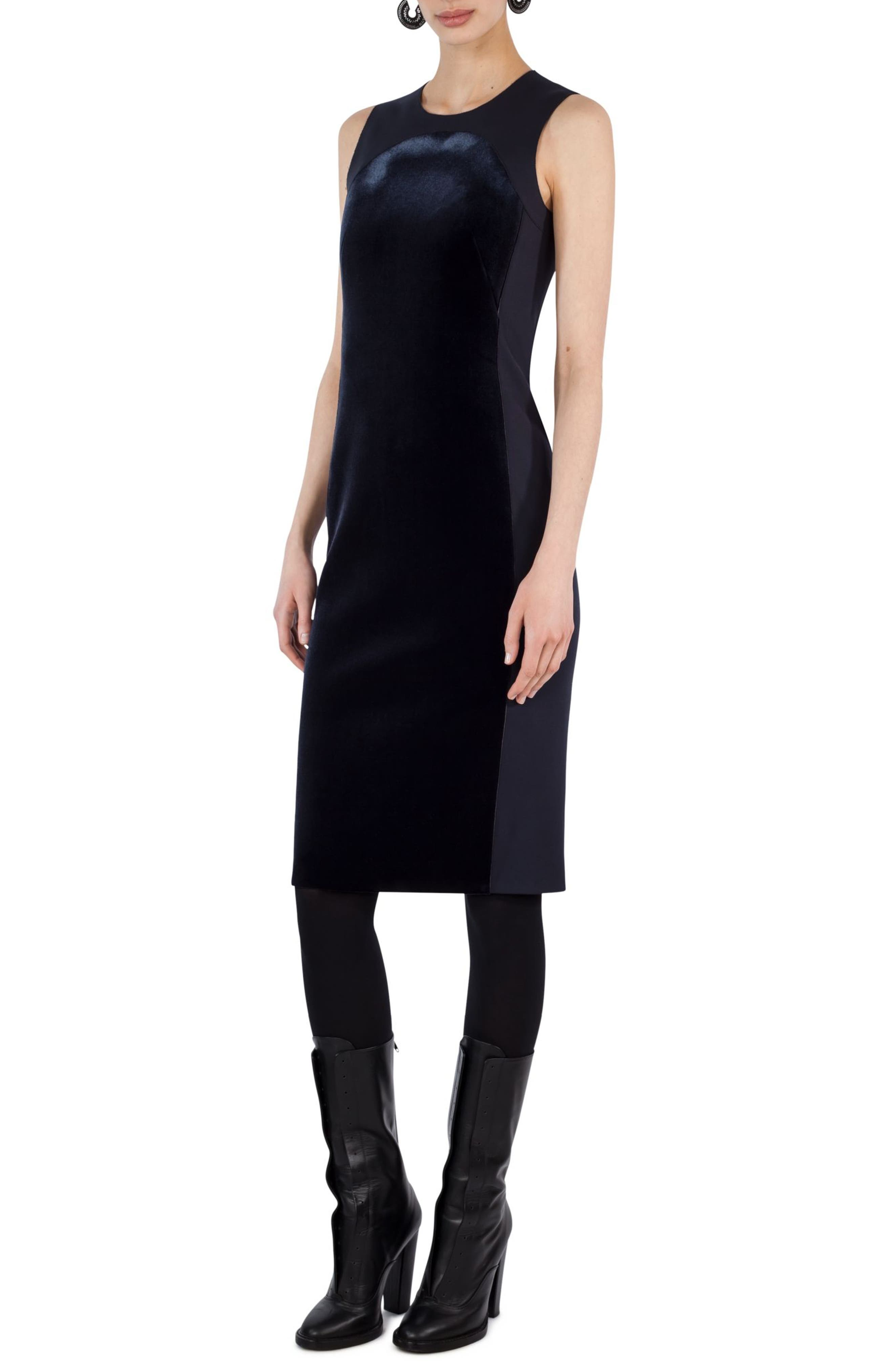 Akris punto Velvet Front Shift Dress