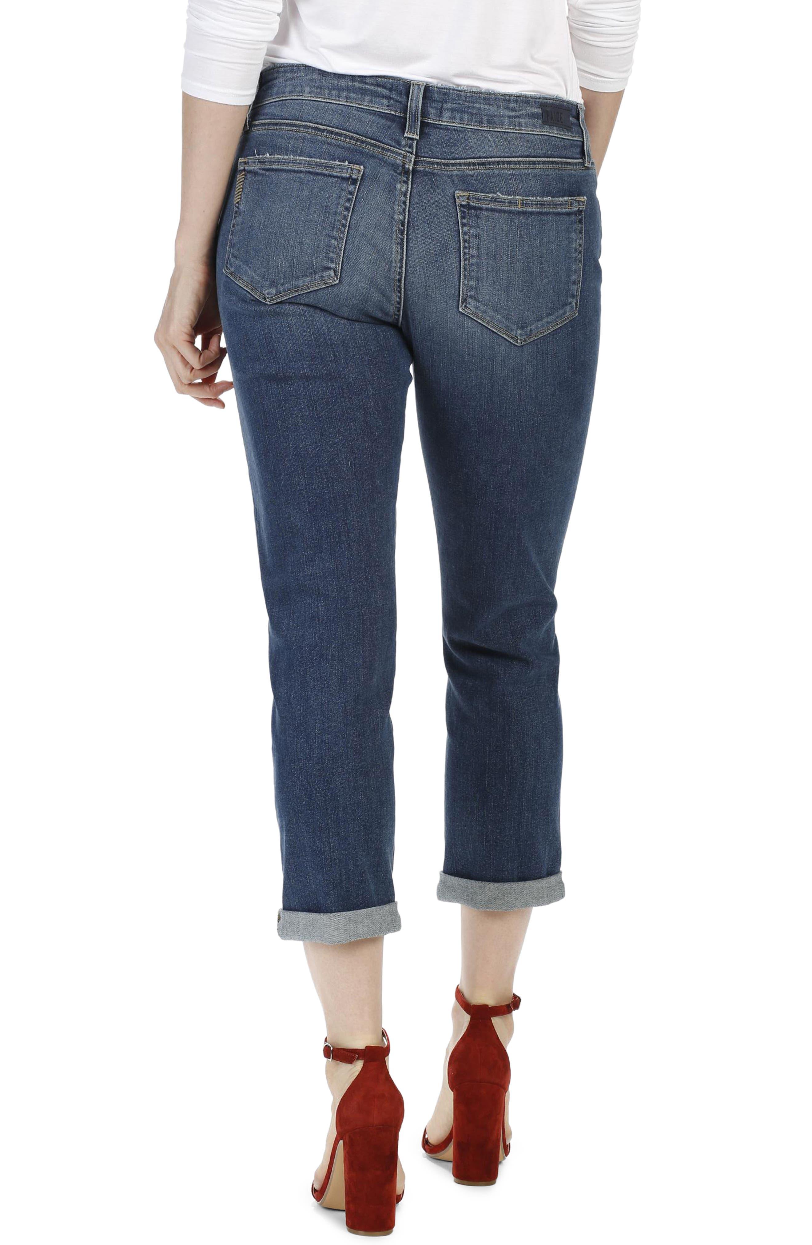 Brigitte Crop Boyfriend Jeans,                             Alternate thumbnail 3, color,                             Luca