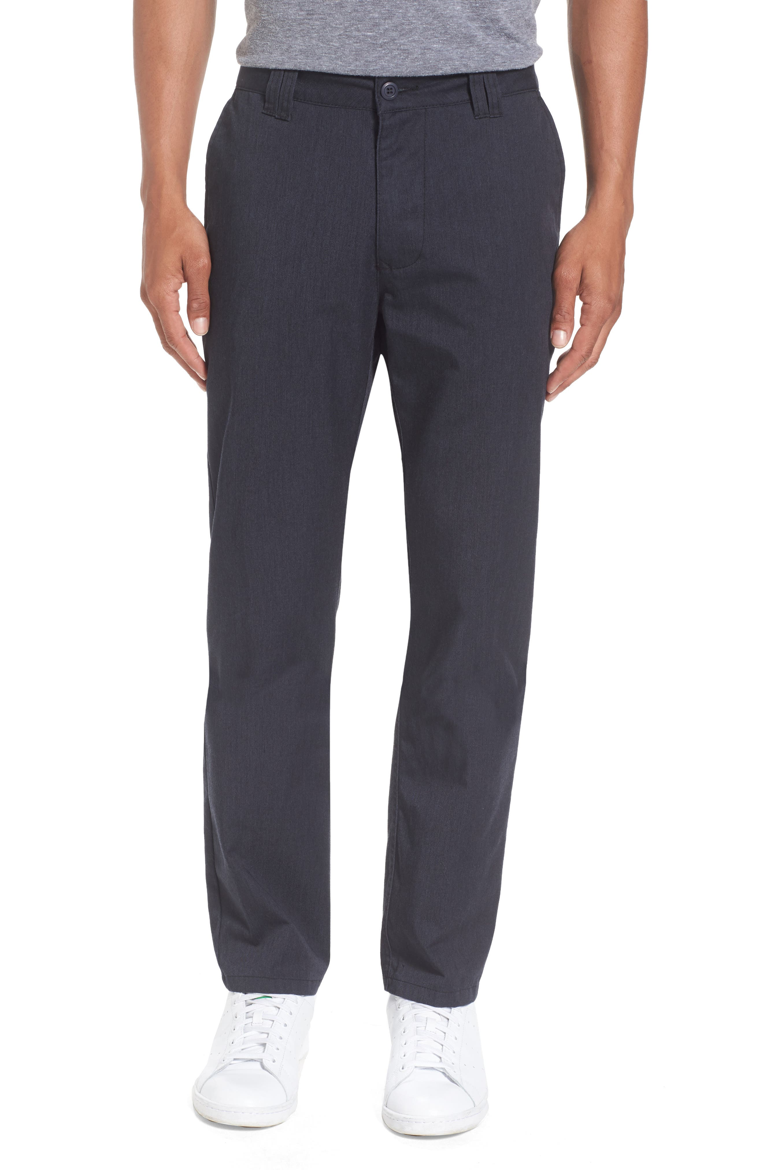 Contact Straight Leg Pants,                         Main,                         color, Navy Heather