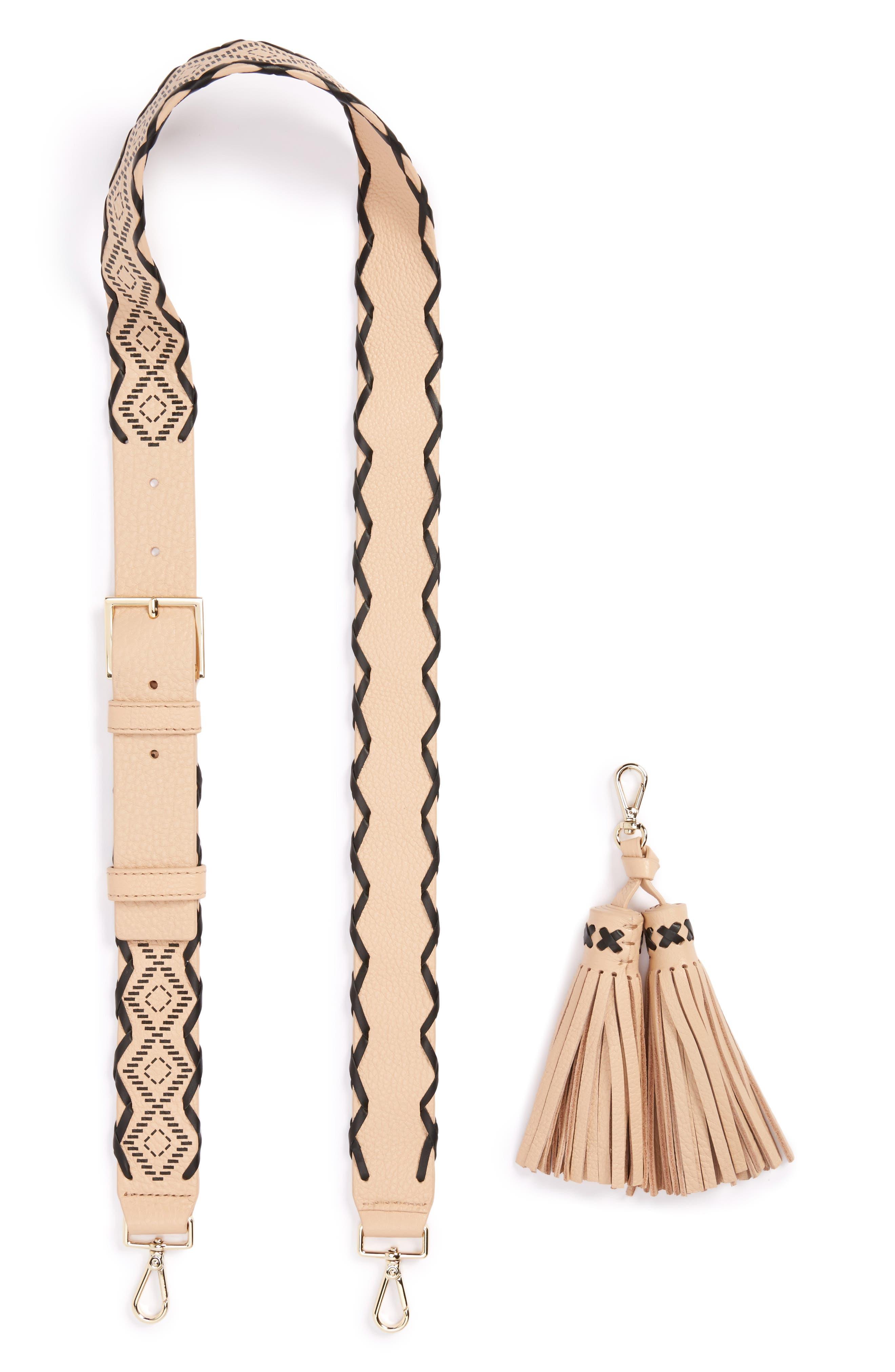 kate spade new york mix it up guitar bag strap & tassel