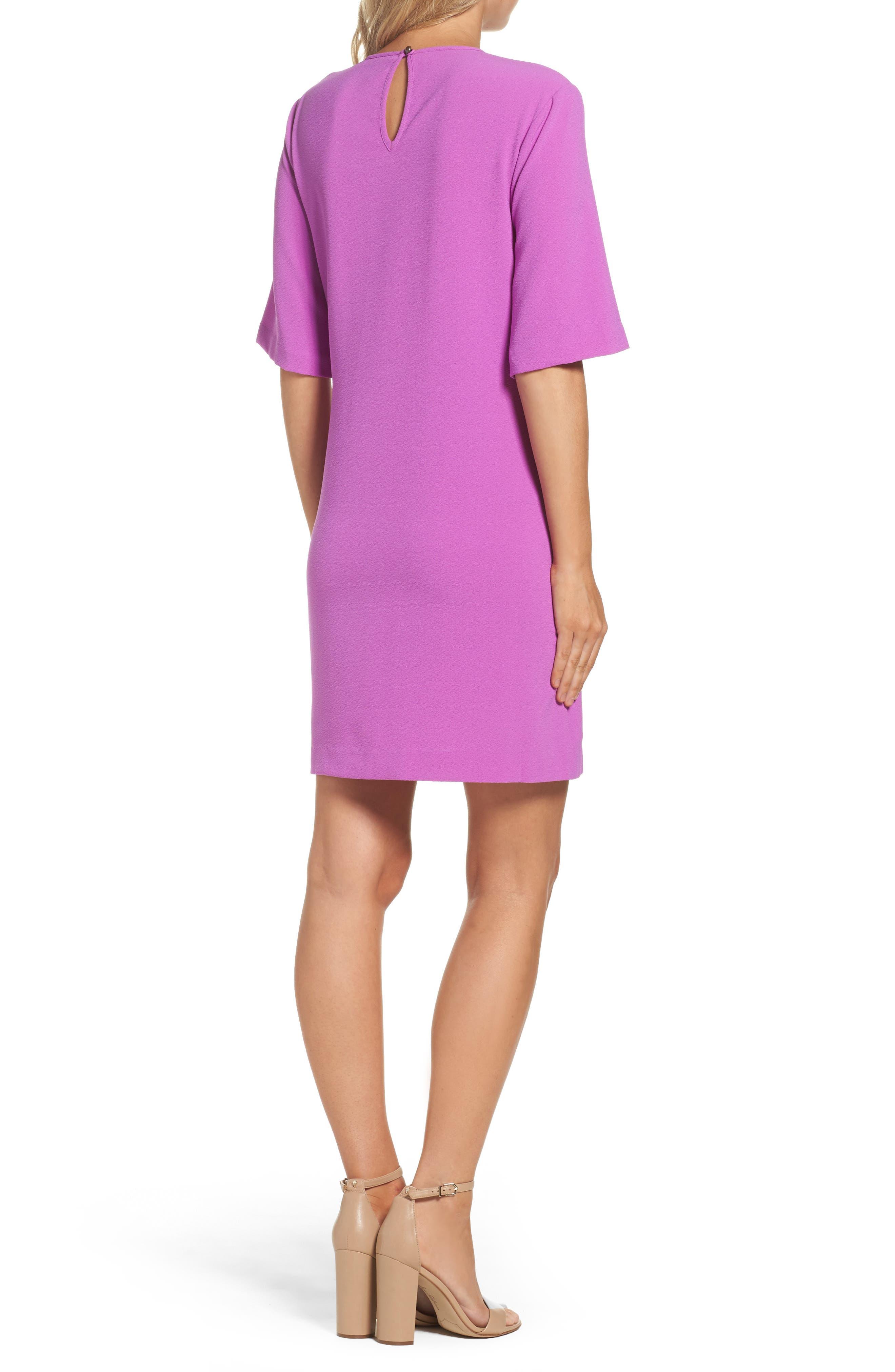 Dara Shift Dress,                             Alternate thumbnail 2, color,                             Violet