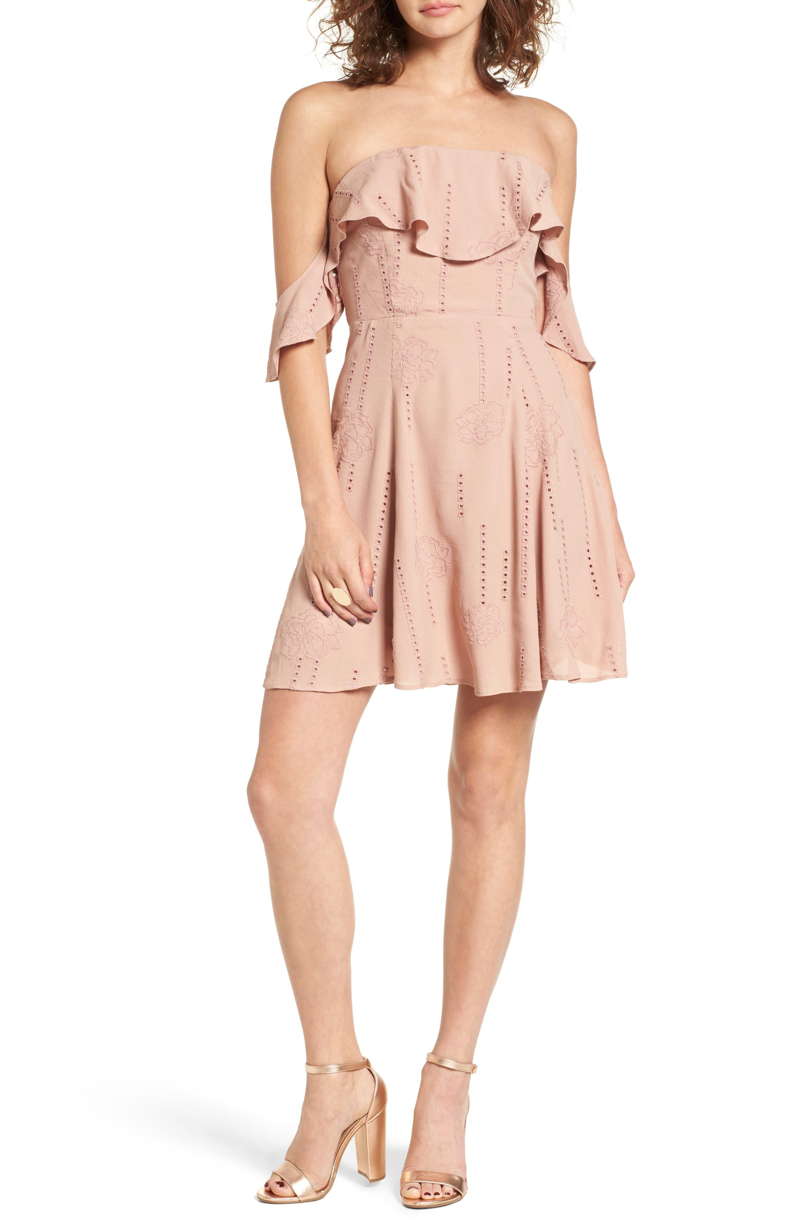 Main Image - ASTR the Label Sabina A-Line Dress